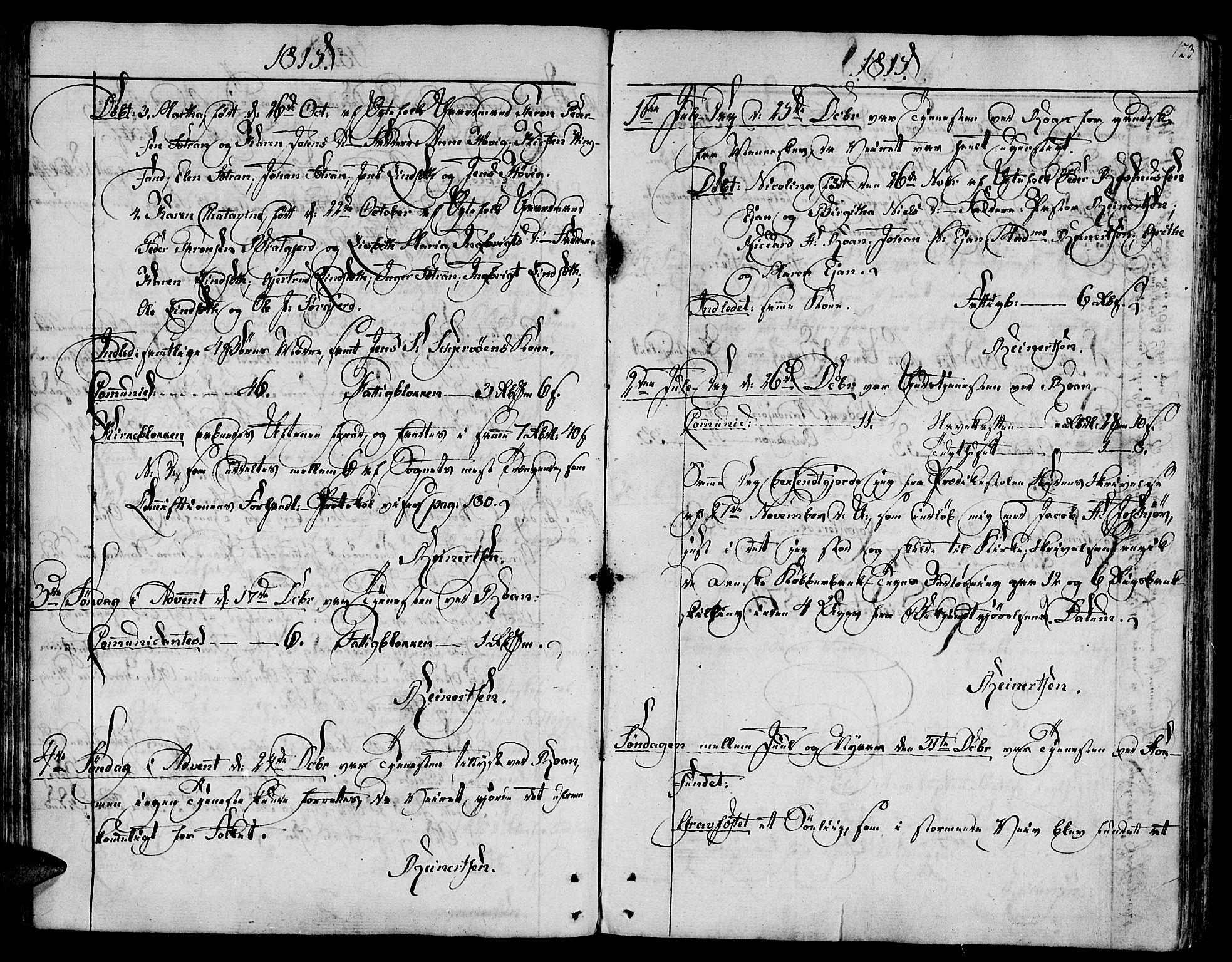 SAT, Ministerialprotokoller, klokkerbøker og fødselsregistre - Sør-Trøndelag, 657/L0701: Parish register (official) no. 657A02, 1802-1831, p. 123