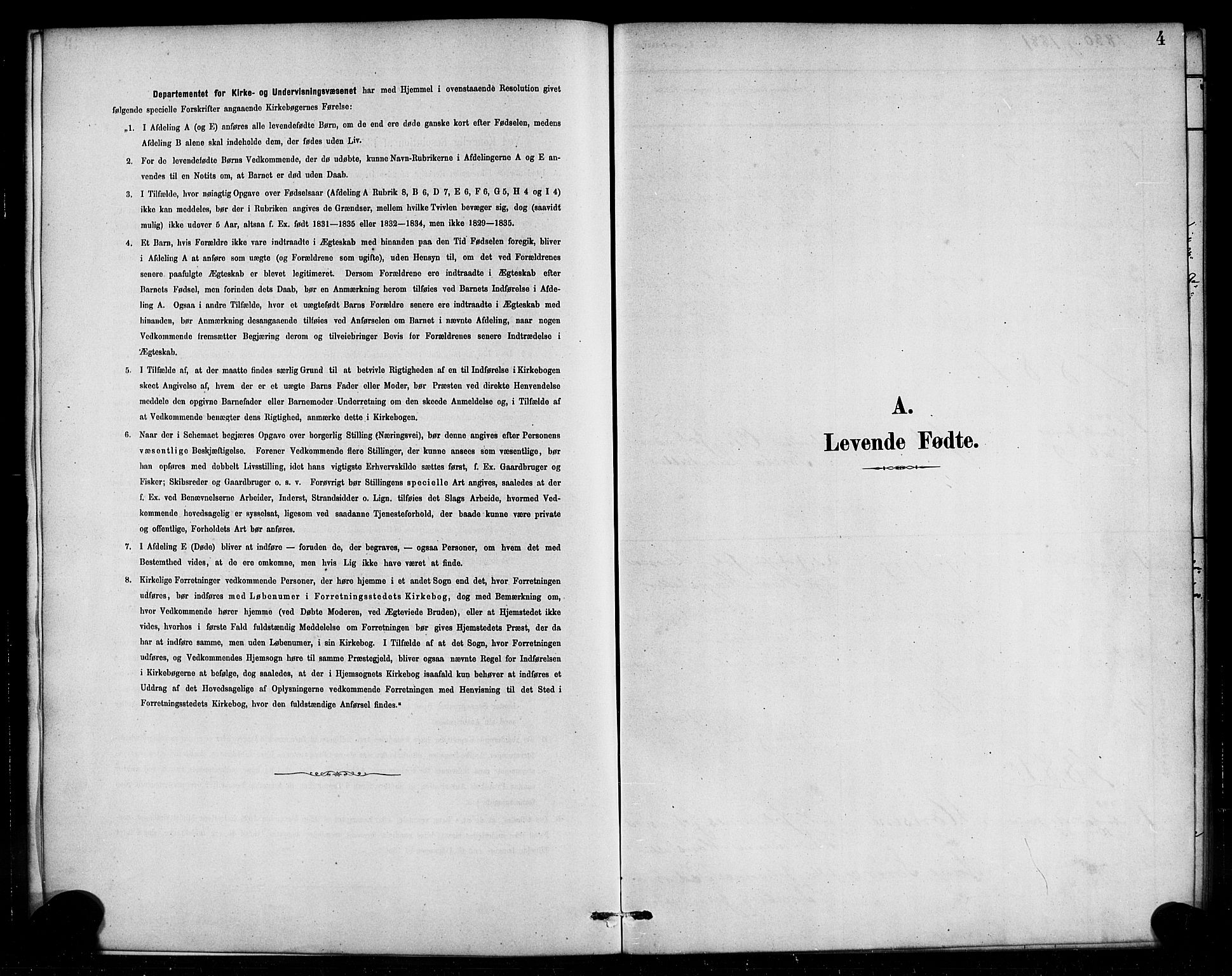 SAB, Aurland Sokneprestembete*, Parish register (official) no. E 1, 1880-1907, p. 4