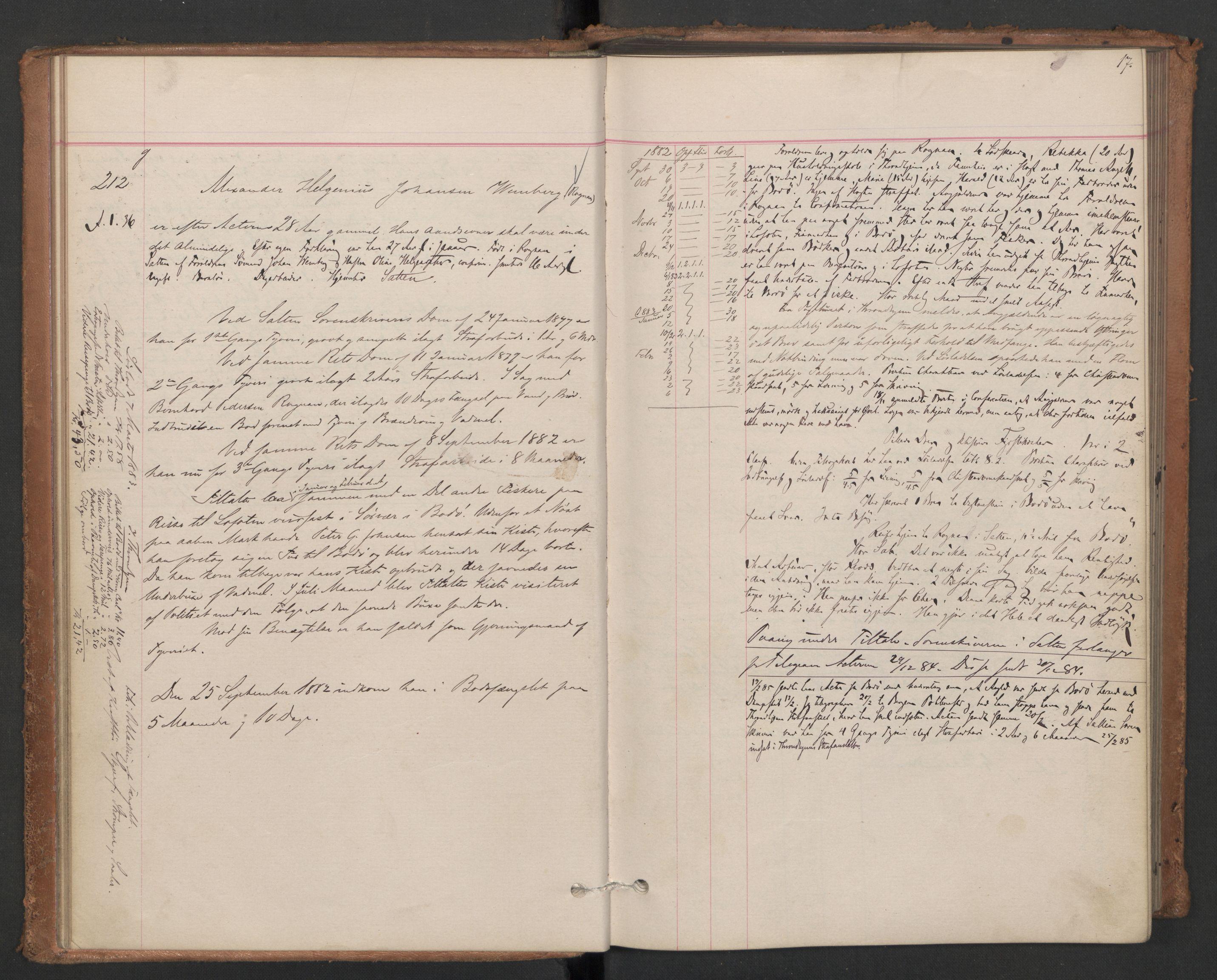 RA, Botsfengslet, D/Db/Dbb/L0021: 196g - 484g, 1882-1884, p. 17