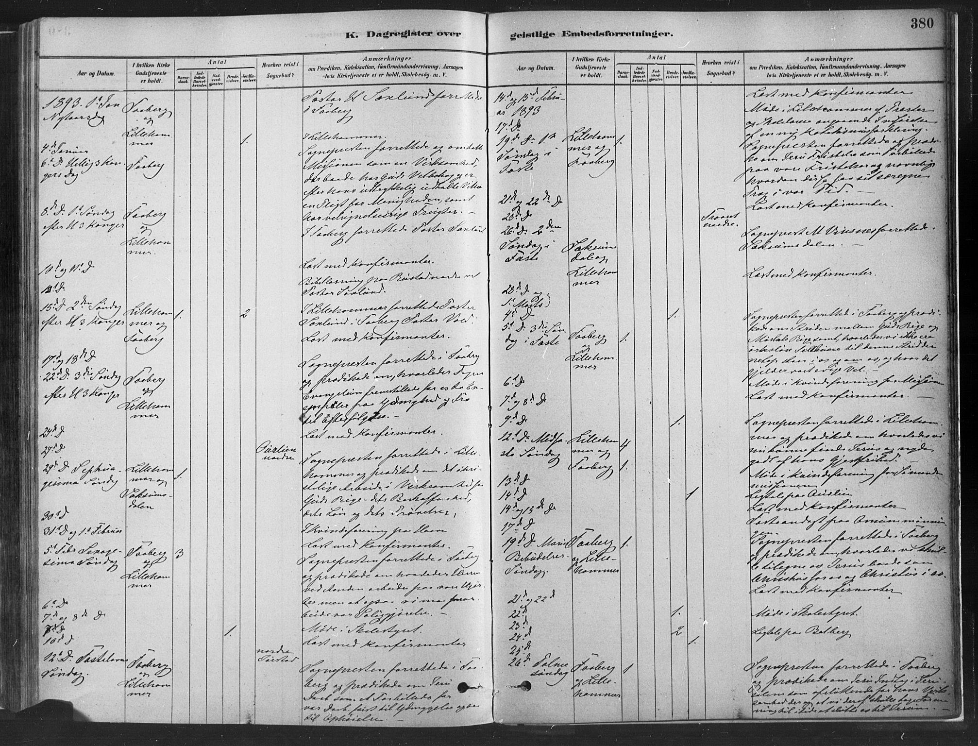 SAH, Fåberg prestekontor, H/Ha/Haa/L0010: Parish register (official) no. 10, 1879-1900, p. 380