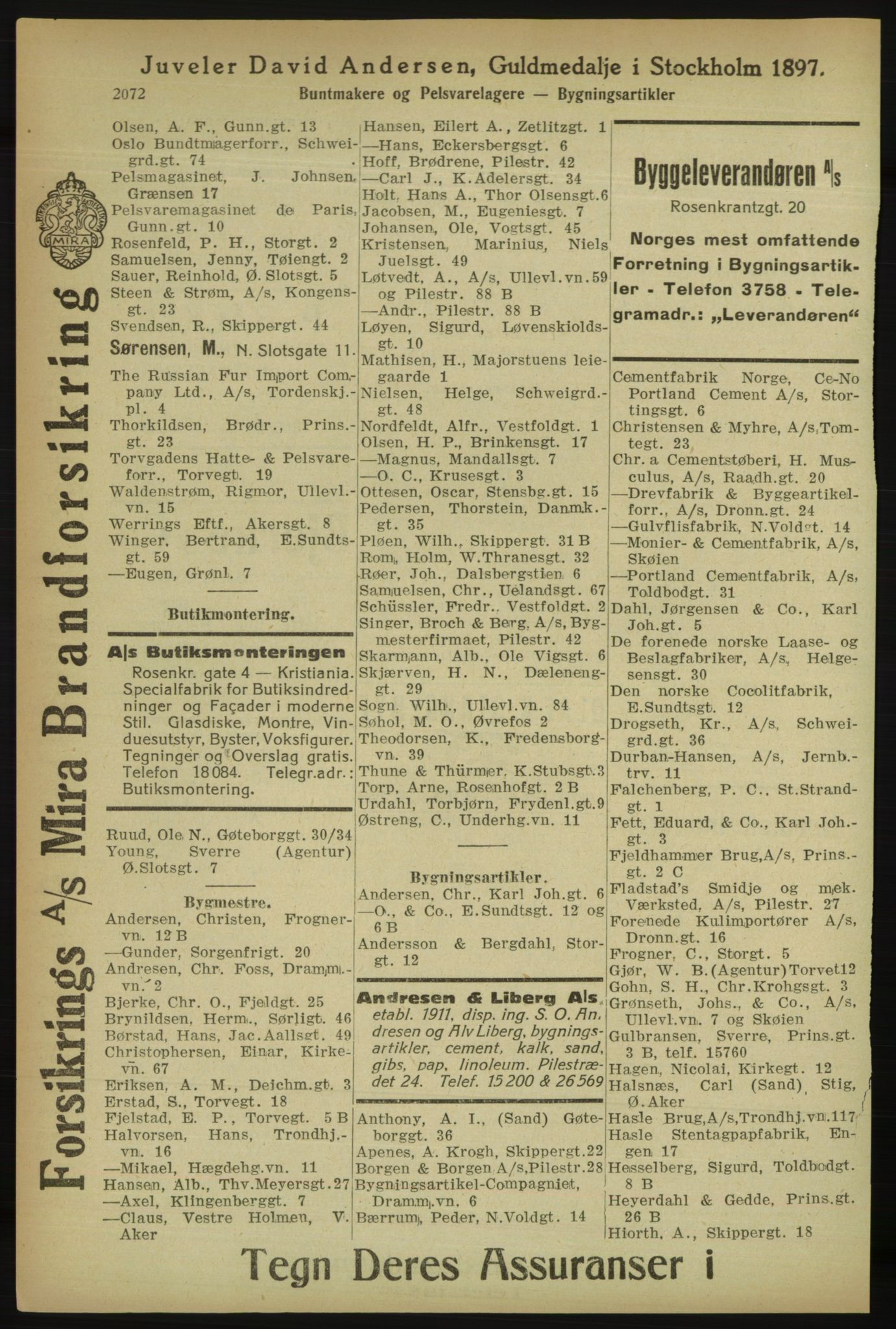 PUBL, Kristiania/Oslo adressebok, 1918, p. 2225