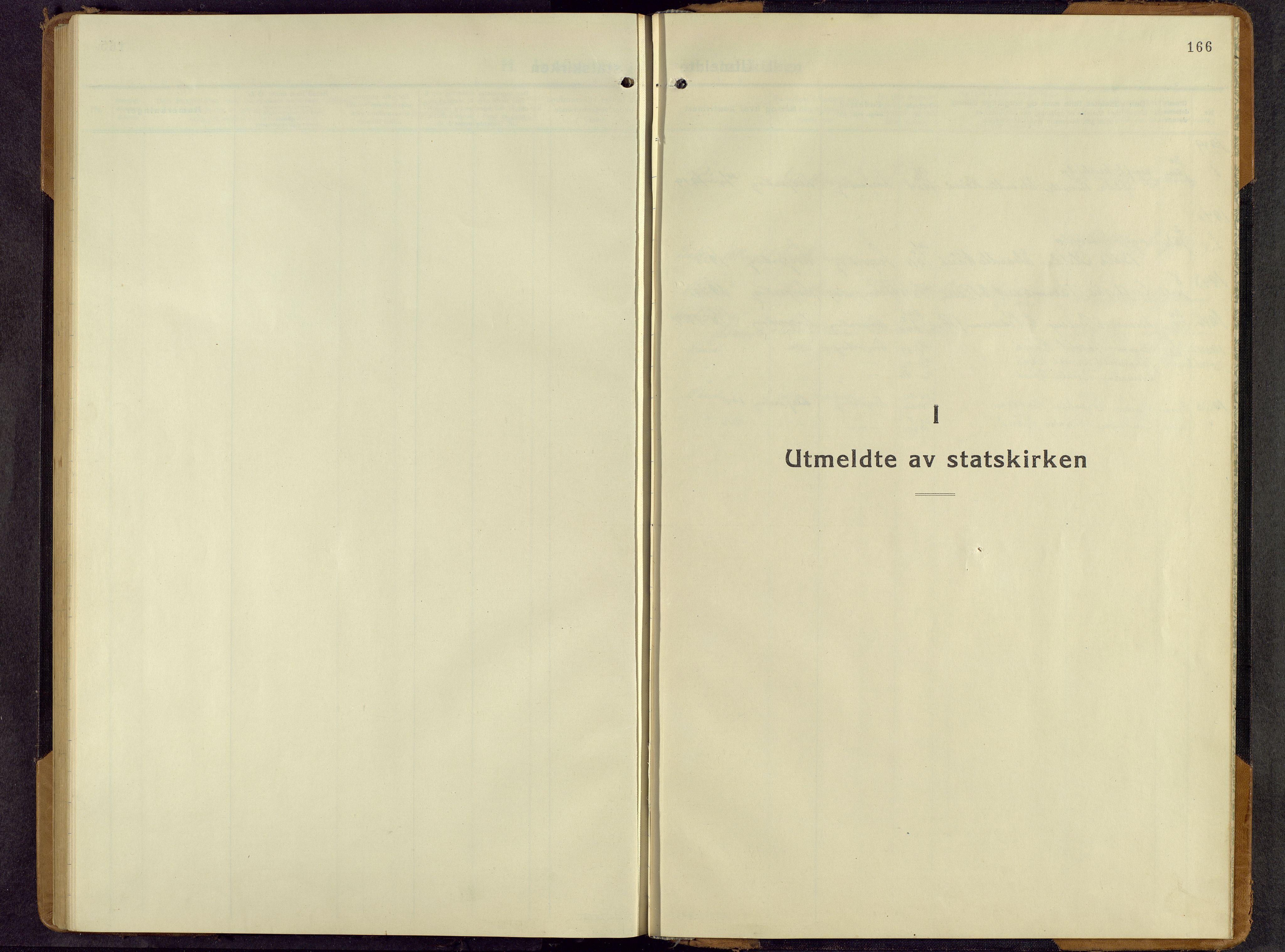 SAH, Lesja prestekontor, Parish register (copy) no. 11, 1932-1960, p. 166
