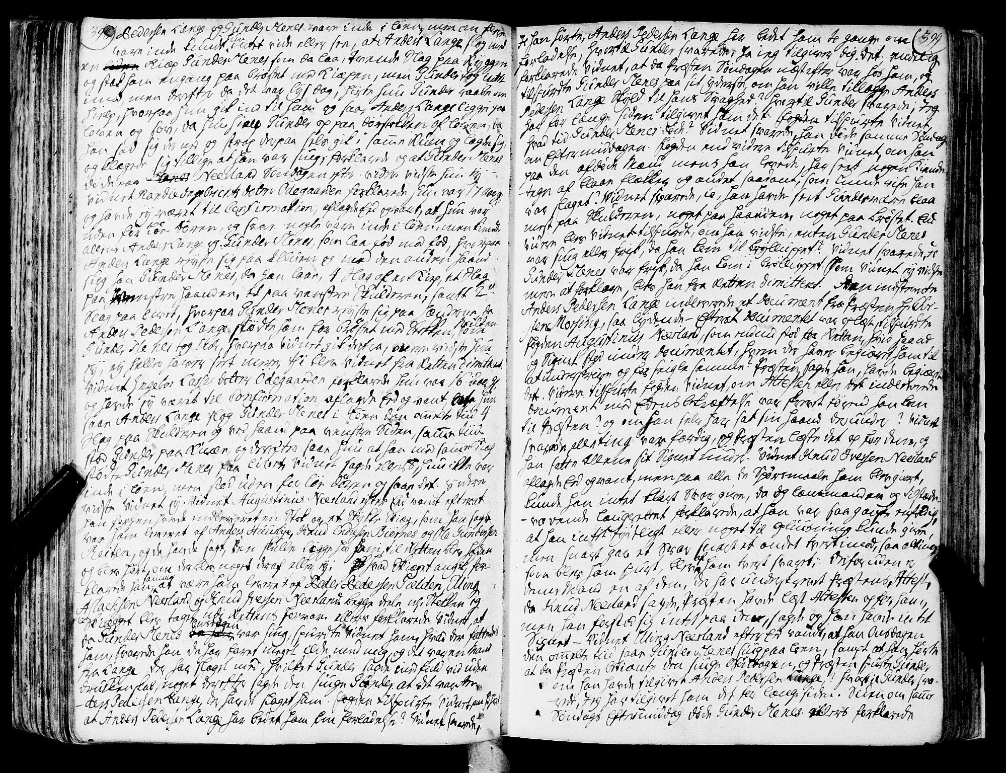 SAT, Romsdal sorenskriveri, 1/1A/L0013: Tingbok, 1749-1757, p. 398-399