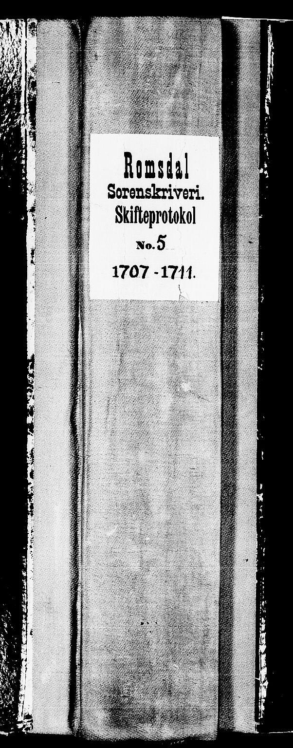 SAT, Romsdal sorenskriveri, 3/3A/L0005: Skifteprotokoll, 1707-1711