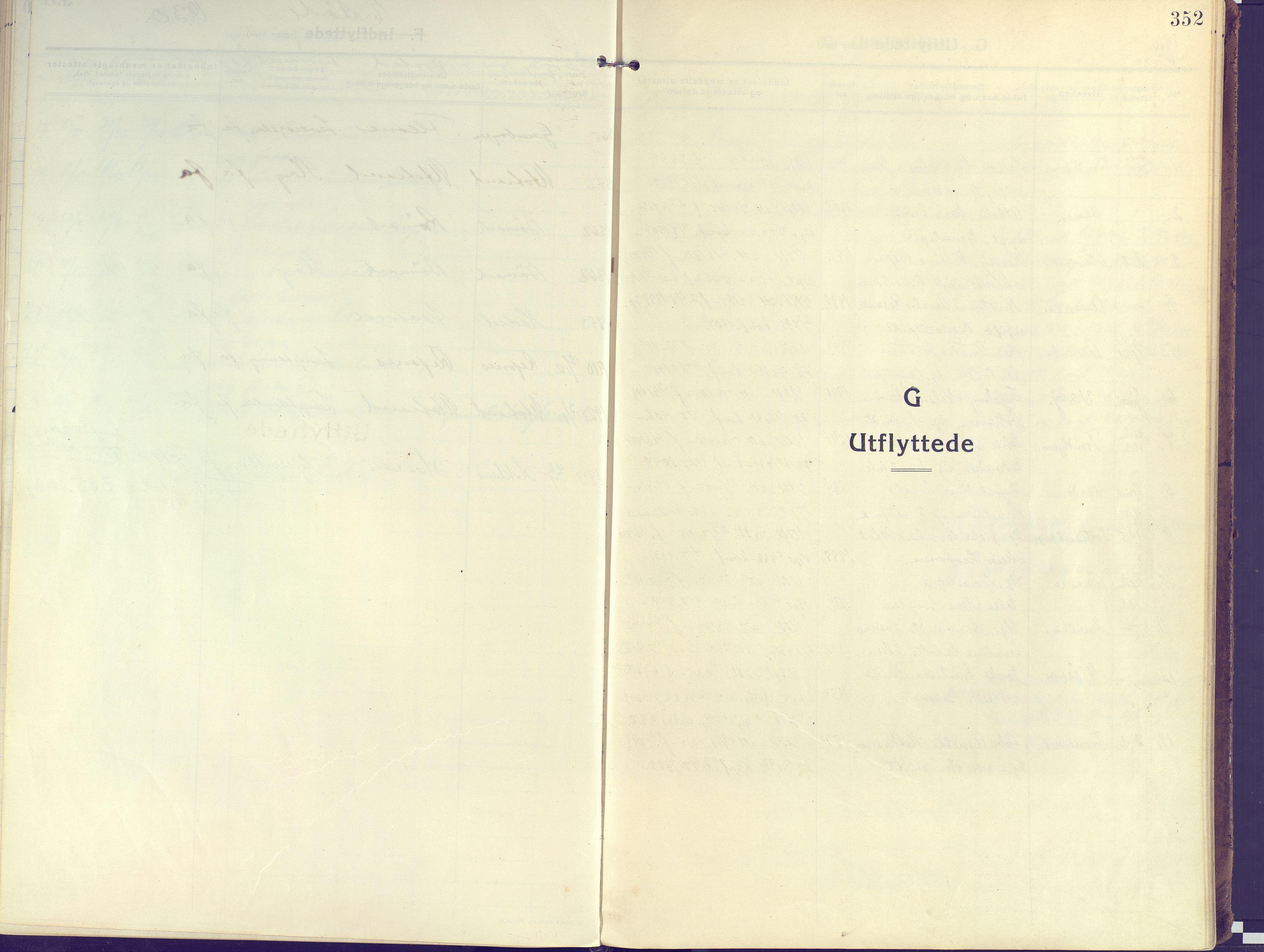 SATØ, Kvæfjord sokneprestkontor, G/Ga/Gaa/L0007kirke: Parish register (official) no. 7, 1915-1931, p. 352
