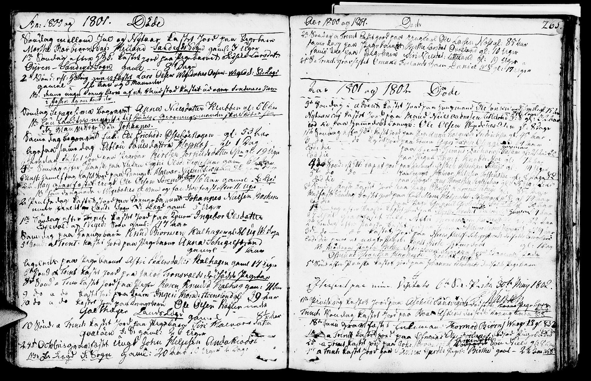 SAST, Vikedal sokneprestkontor, IV: Parish register (official) no. A 2, 1779-1817, p. 265