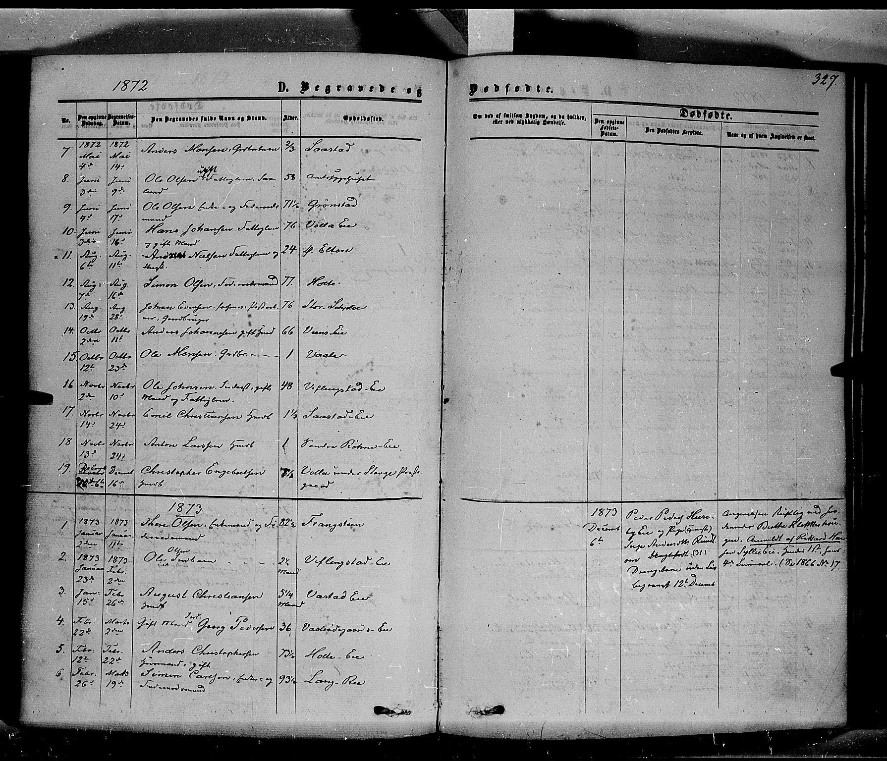 SAH, Stange prestekontor, K/L0013: Parish register (official) no. 13, 1862-1879, p. 327
