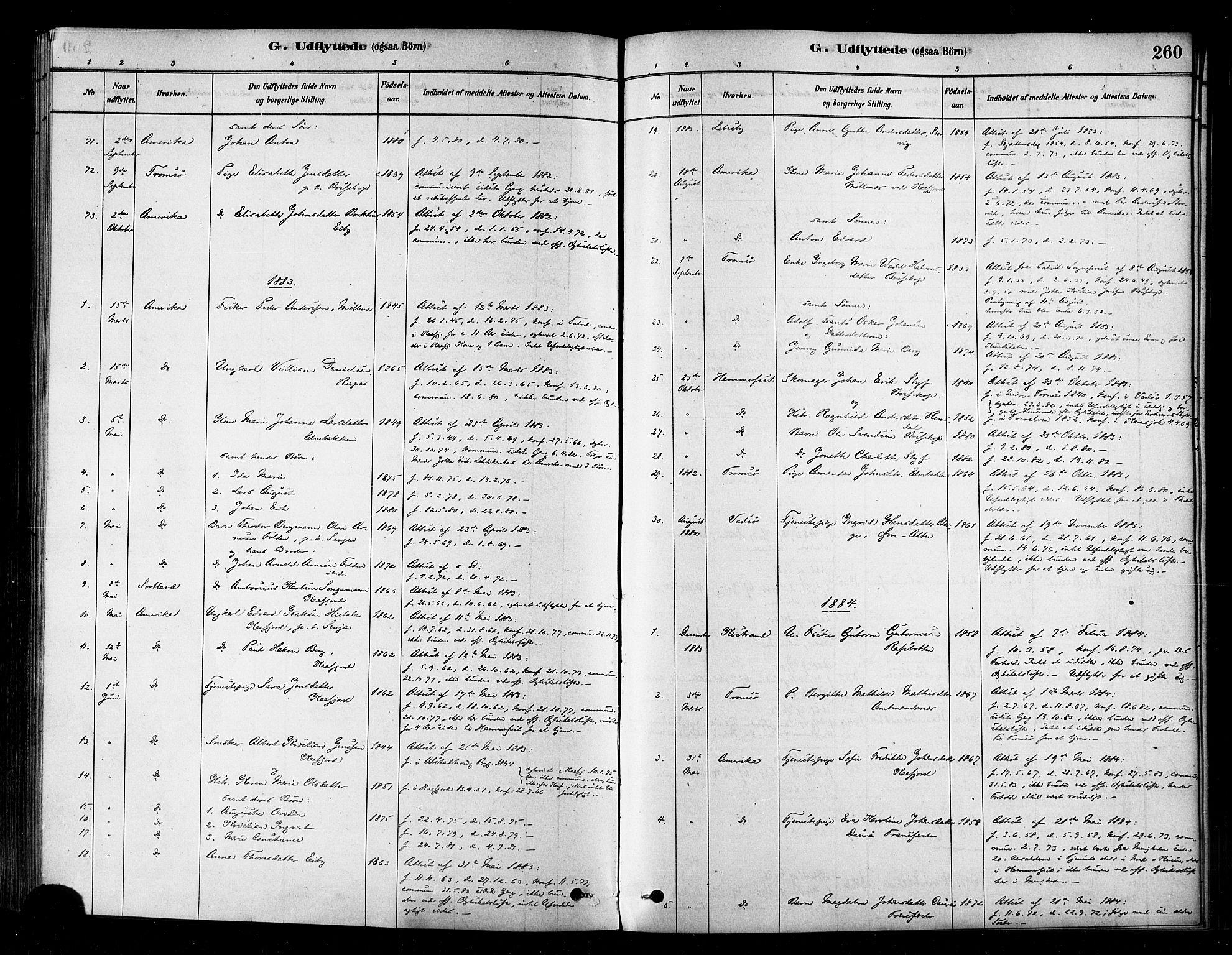 SATØ, Alta sokneprestembete, Parish register (official) no. 2, 1879-1892, p. 260