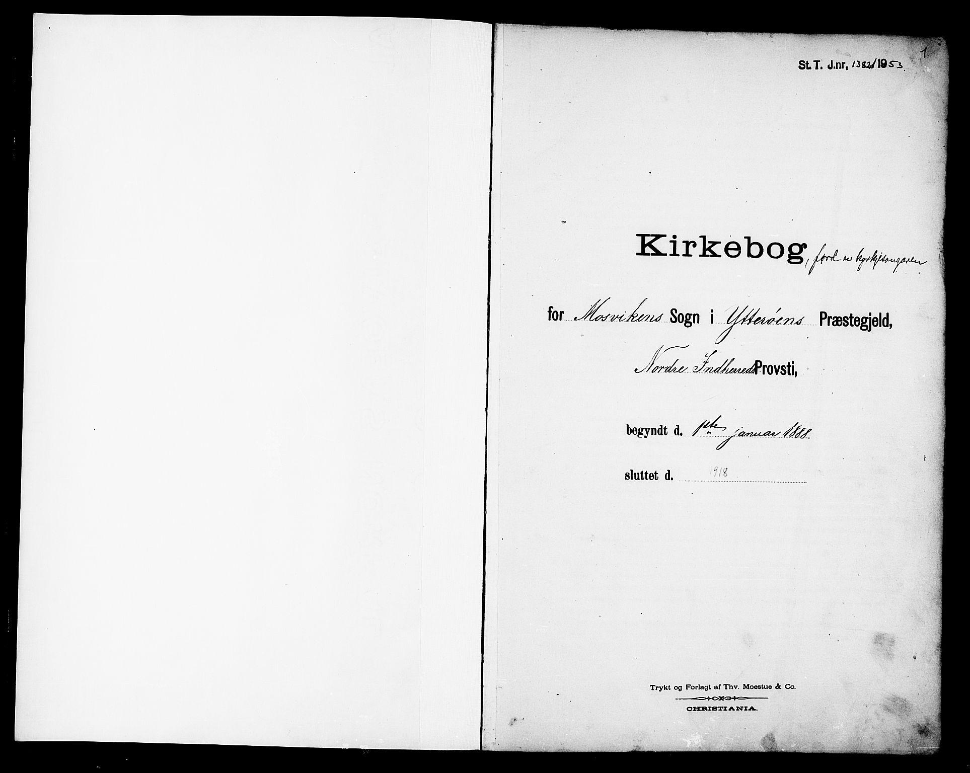 SAT, Ministerialprotokoller, klokkerbøker og fødselsregistre - Nord-Trøndelag, 733/L0327: Parish register (copy) no. 733C02, 1888-1918, p. 1