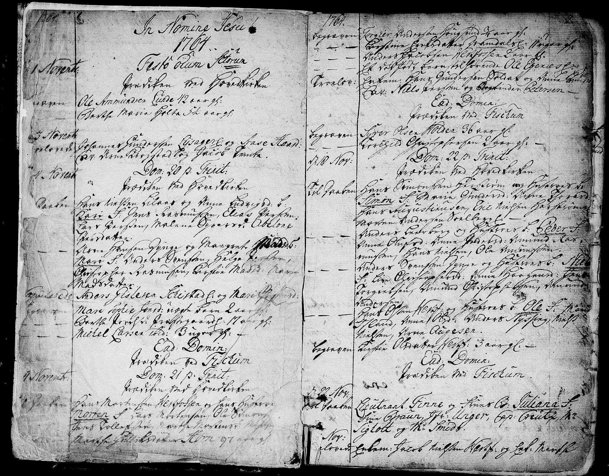 SAKO, Eiker kirkebøker, F/Fa/L0008: Parish register (official) no. I 8, 1764-1788, p. 3-4
