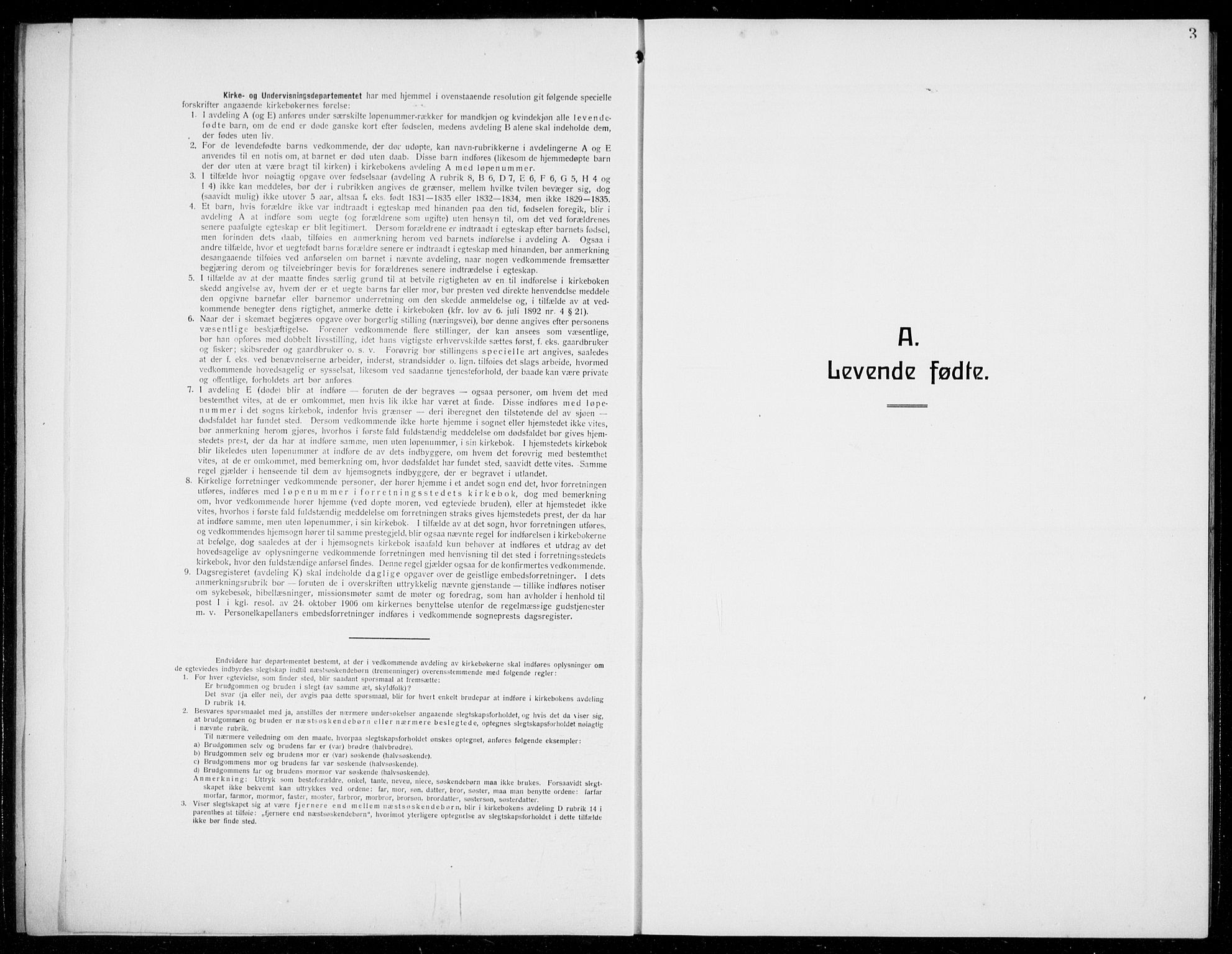 SAB, Evanger sokneprestembete*, Parish register (copy) no. A 6, 1918-1941, p. 3