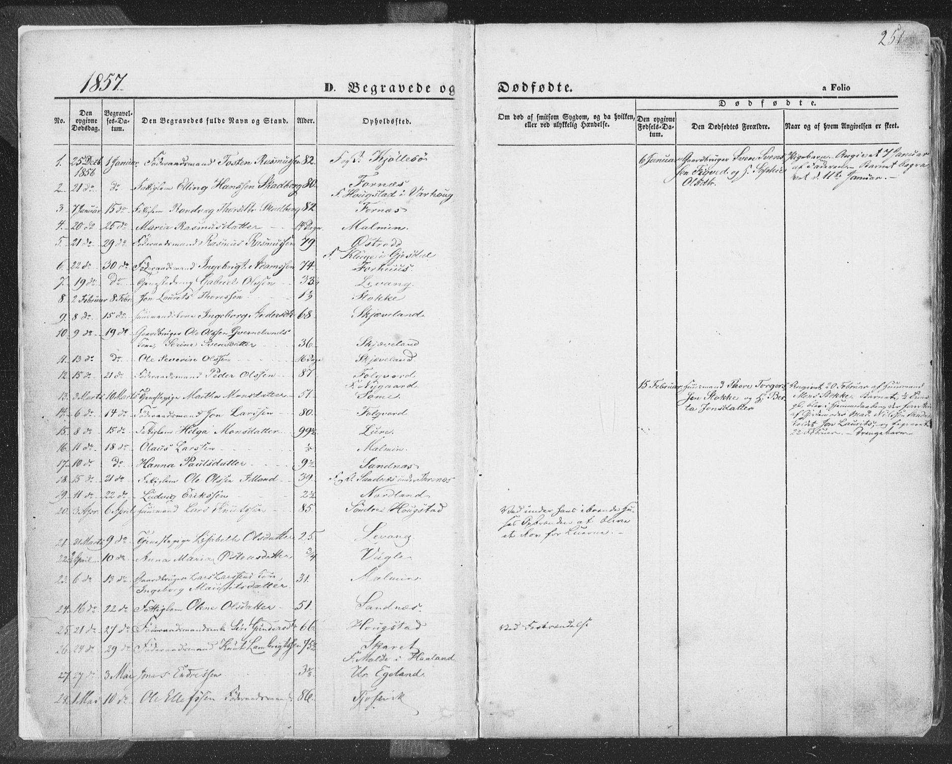 SAST, Høyland sokneprestkontor, 30BA/L0009: Parish register (official) no. A 9.2, 1857-1877, p. 251