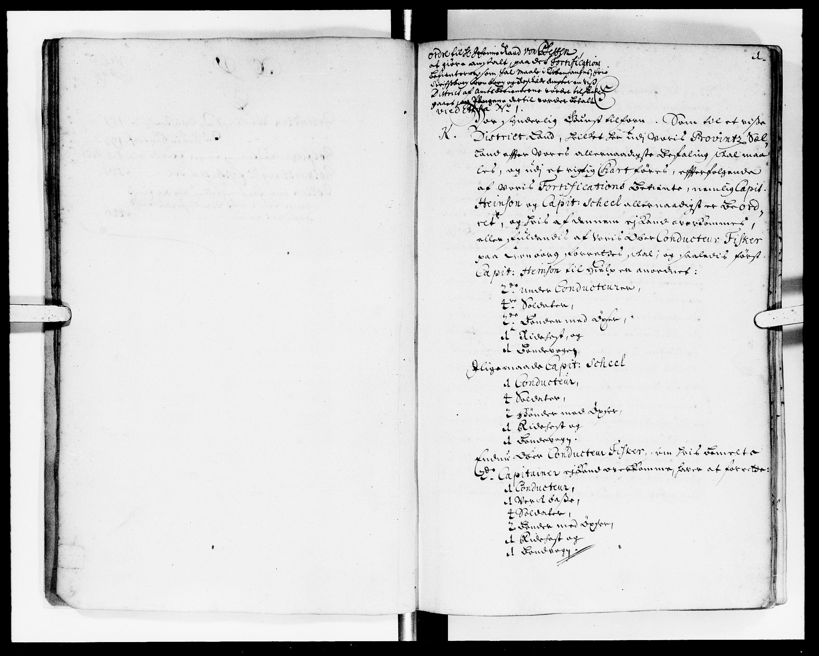 DRA, Rentekammeret Skatkammeret, Danske Sekretariat (1660-1679) / Rentekammeret Danske Afdeling, Kammerkancelliet (1679-1771), -/2212-12: Ekspeditionsprotokol, 1697-1698, p. 1