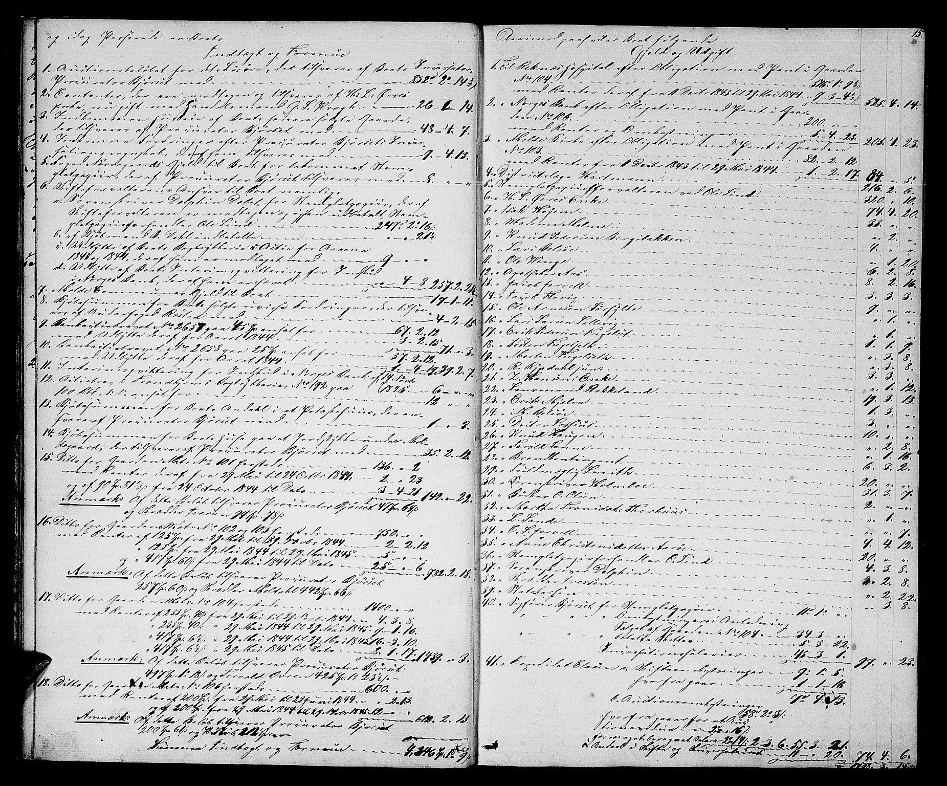 SAT, Molde byfogd, 3/3Ab/L0001: Skifteutlodningsprotokoll, 1842-1867, p. 15