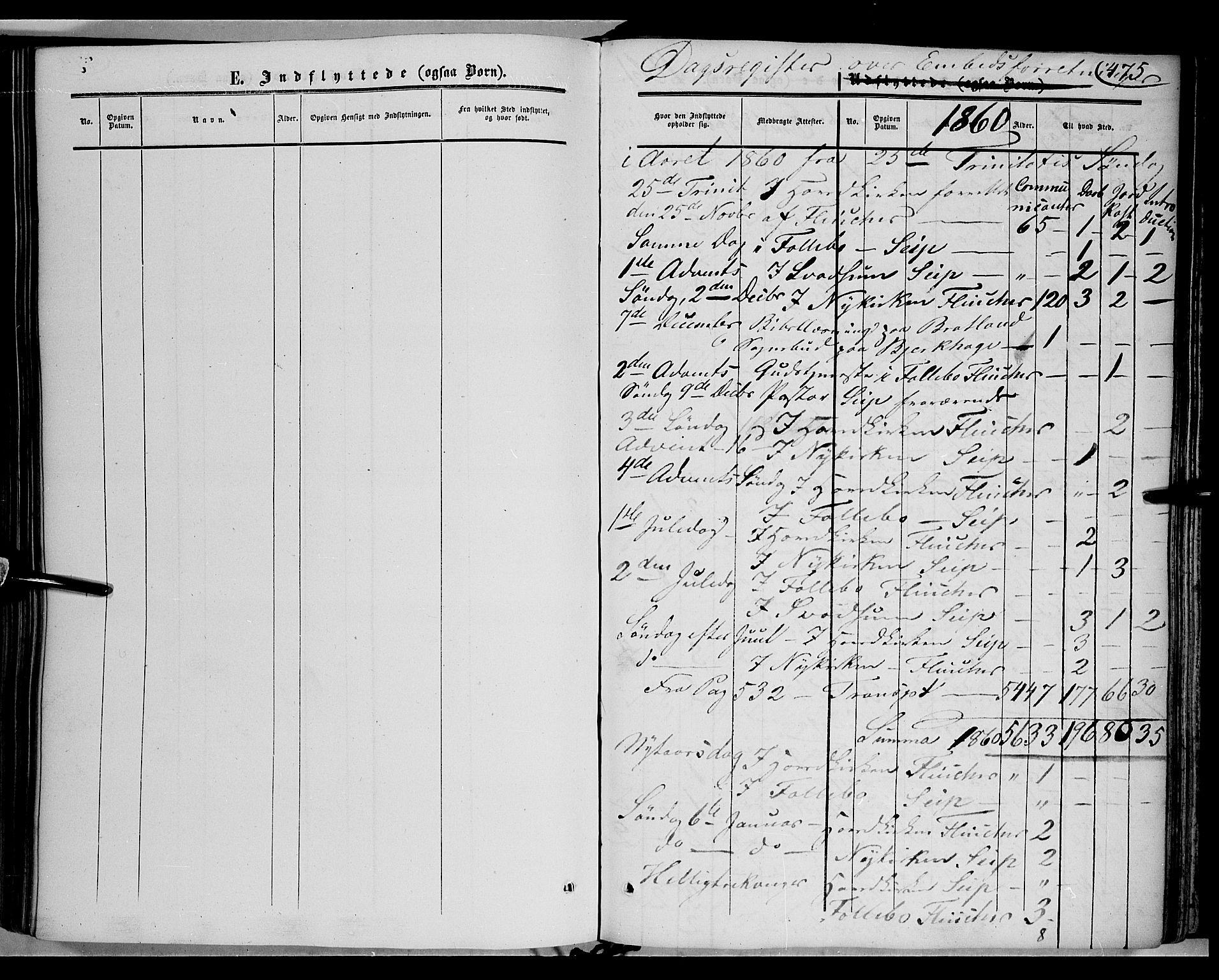 SAH, Gausdal prestekontor, Parish register (official) no. 8, 1850-1861, p. 475