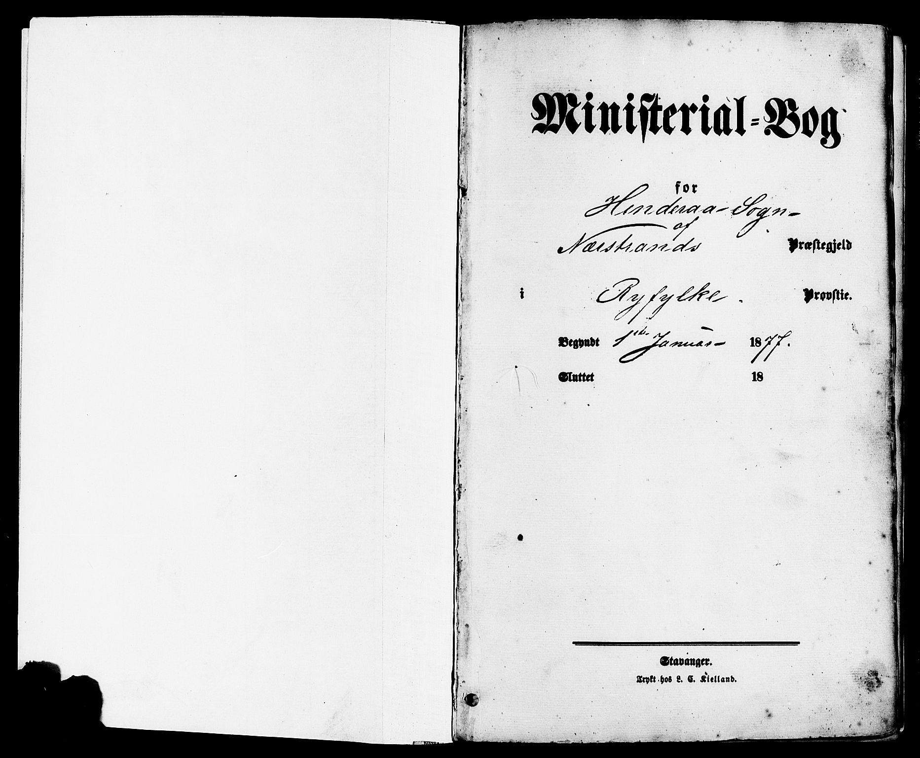 SAST, Nedstrand sokneprestkontor, IV: Parish register (official) no. A 11, 1877-1887