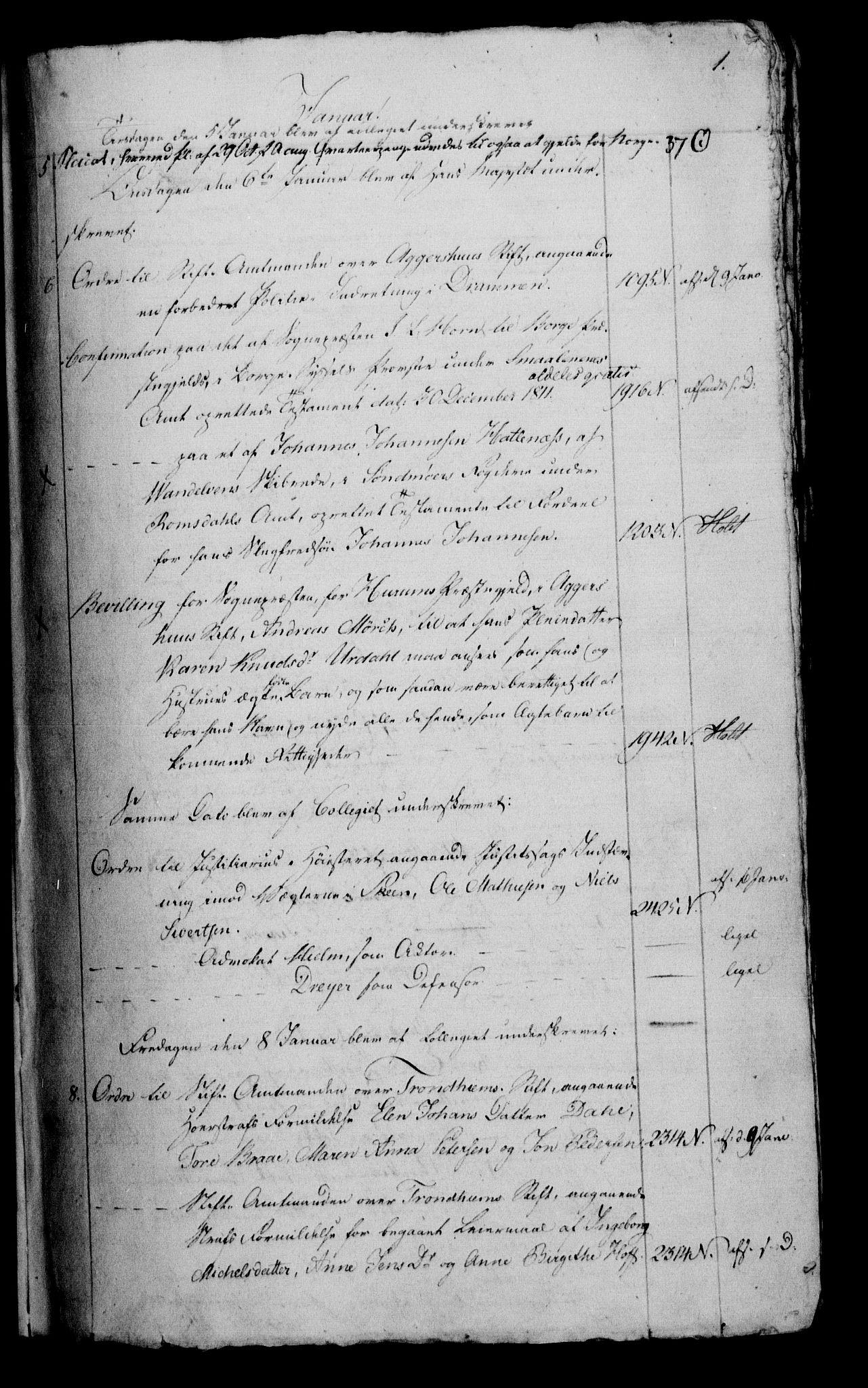 RA, Danske Kanselli 1800-1814, H/Hf/Hfb/Hfbc/L0014: Underskrivelsesbok m. register, 1813, p. 1