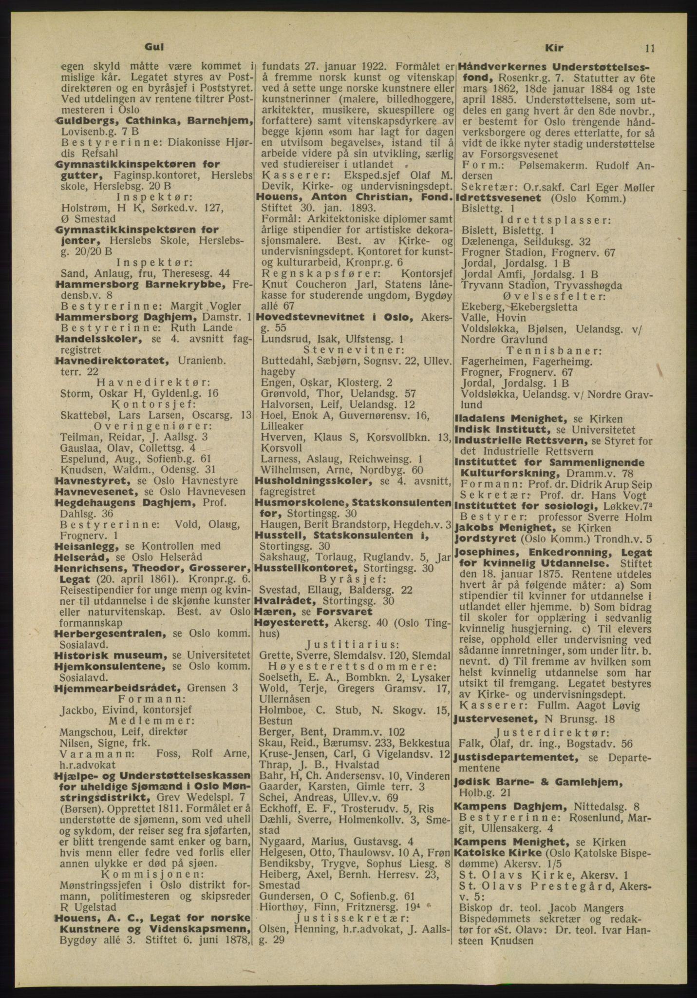 PUBL, Kristiania/Oslo adressebok, 1955, p. 11