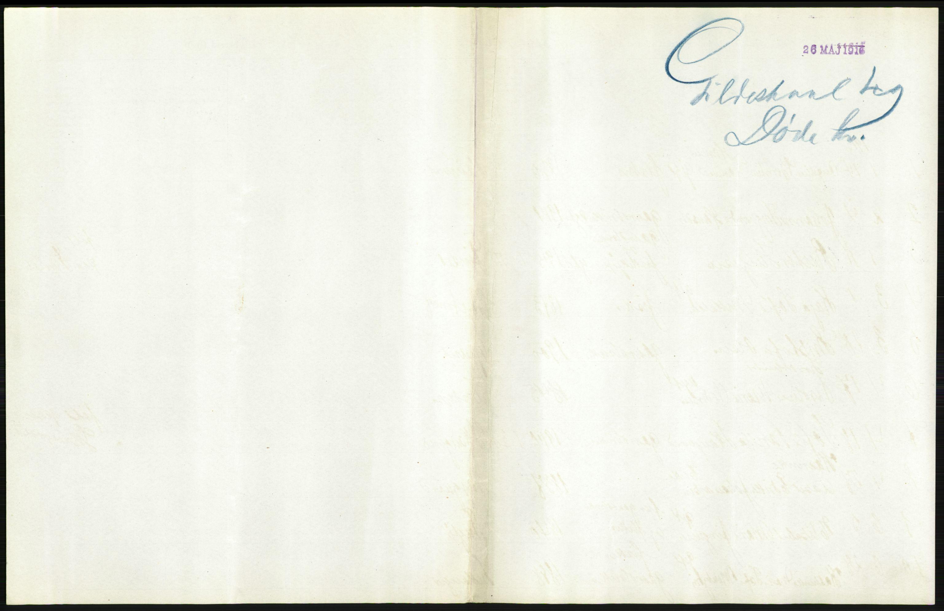 RA, Statistisk sentralbyrå, Sosiodemografiske emner, Befolkning, D/Df/Dfb/Dfbe/L0049: Nordlands amt: Døde. Bygder., 1915