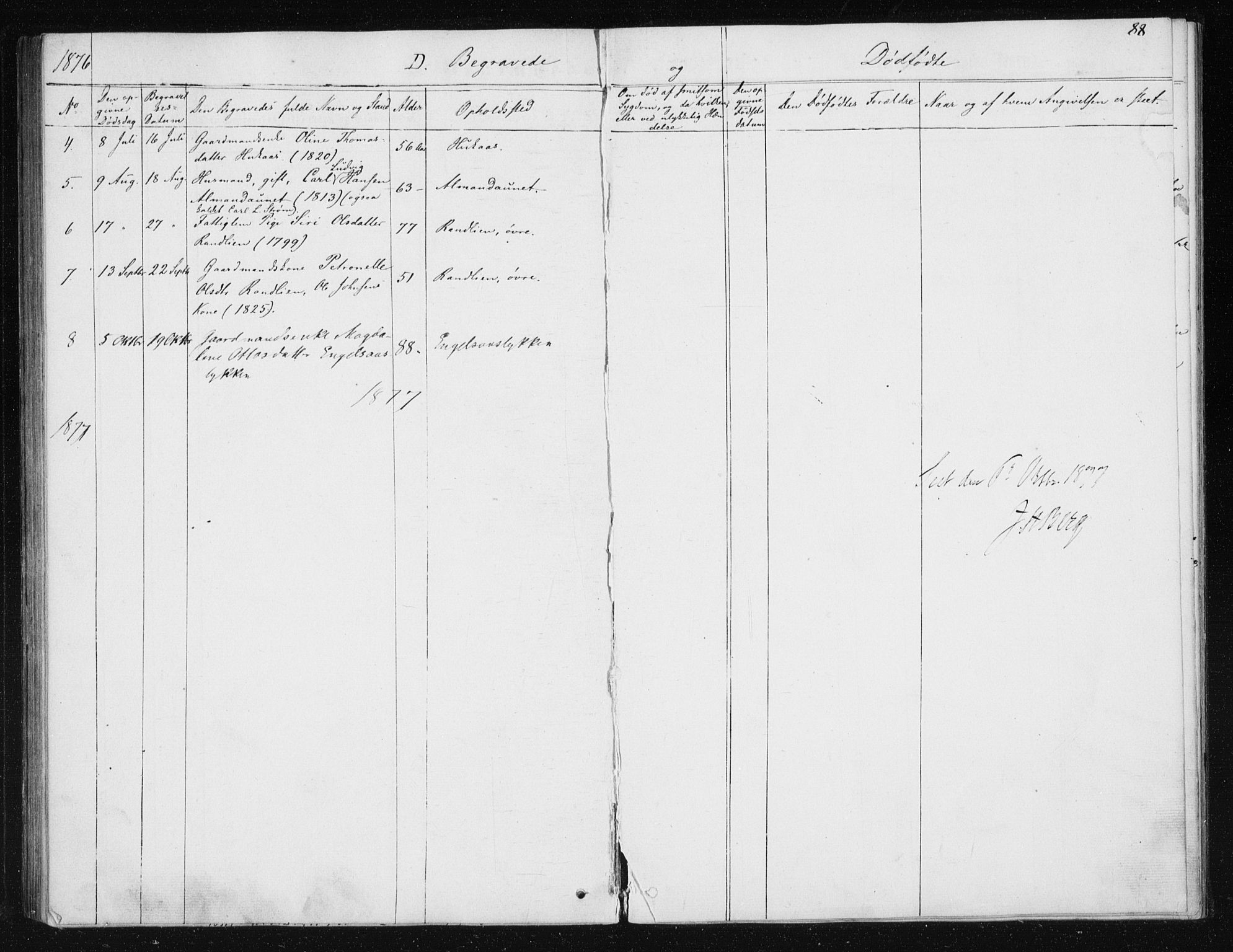 SAT, Ministerialprotokoller, klokkerbøker og fødselsregistre - Sør-Trøndelag, 608/L0333: Parish register (official) no. 608A02, 1862-1876, p. 88