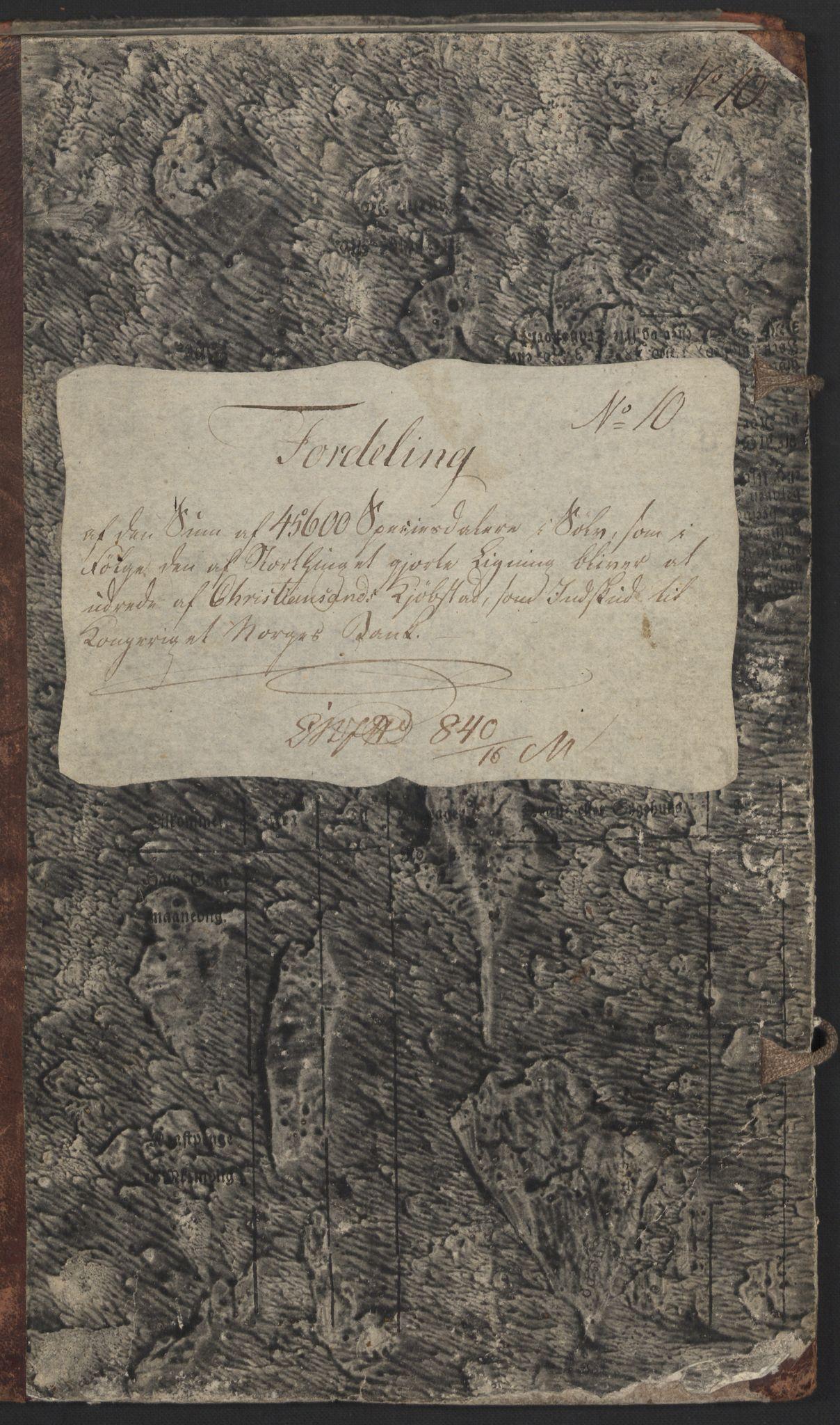 NOBA, Norges Bank/Sølvskatten 1816*, 1816-1823, p. 2