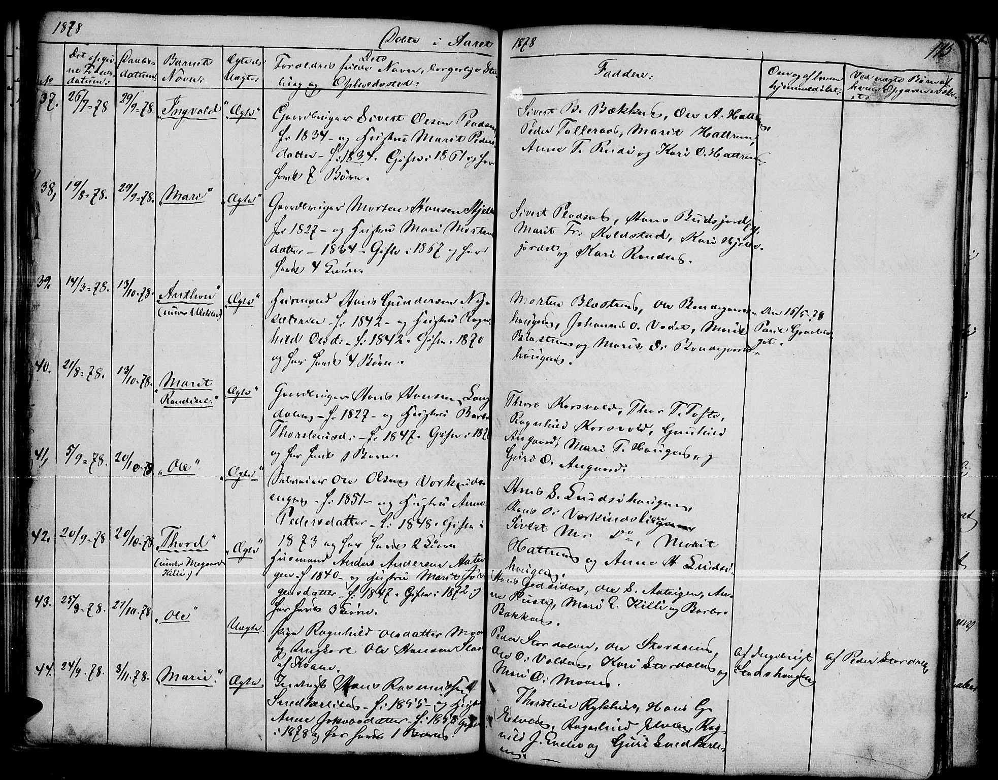 SAH, Dovre prestekontor, Parish register (copy) no. 1, 1862-1880, p. 115