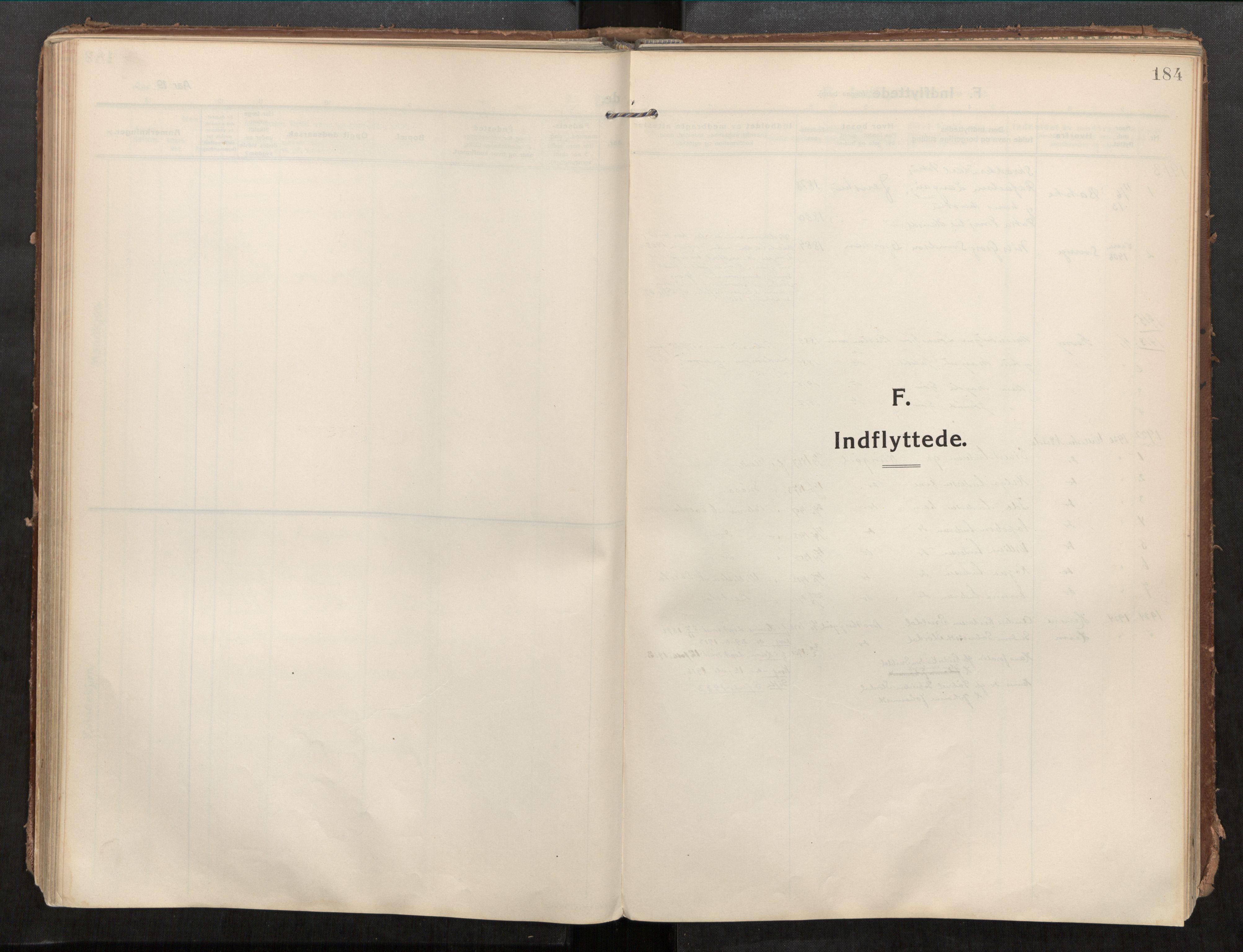 SAT, Beitstad sokneprestkontor, I/I1/I1a/L0001: Parish register (official) no. 1, 1912-1927, p. 184