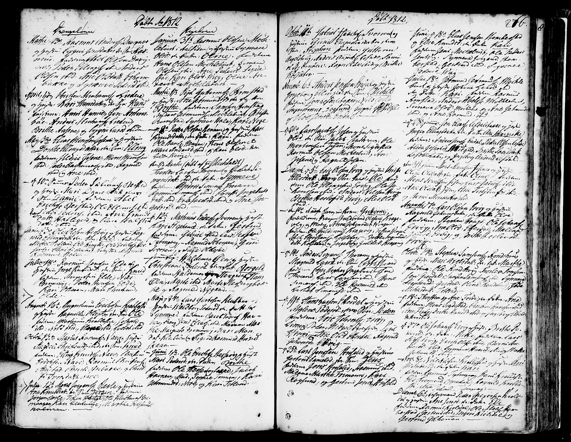 SAB, Davik Sokneprestembete, Parish register (official) no. A 2, 1742-1816, p. 276