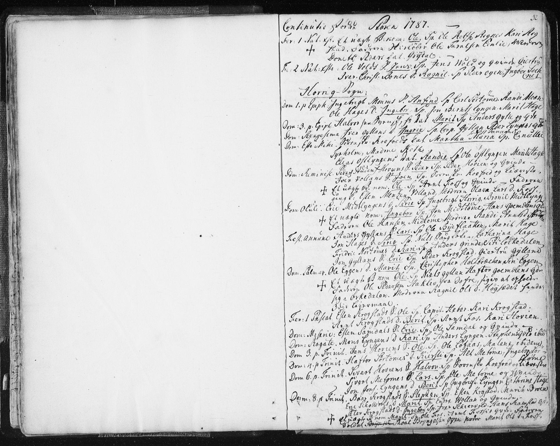 SAT, Ministerialprotokoller, klokkerbøker og fødselsregistre - Sør-Trøndelag, 687/L0991: Parish register (official) no. 687A02, 1747-1790, p. 32
