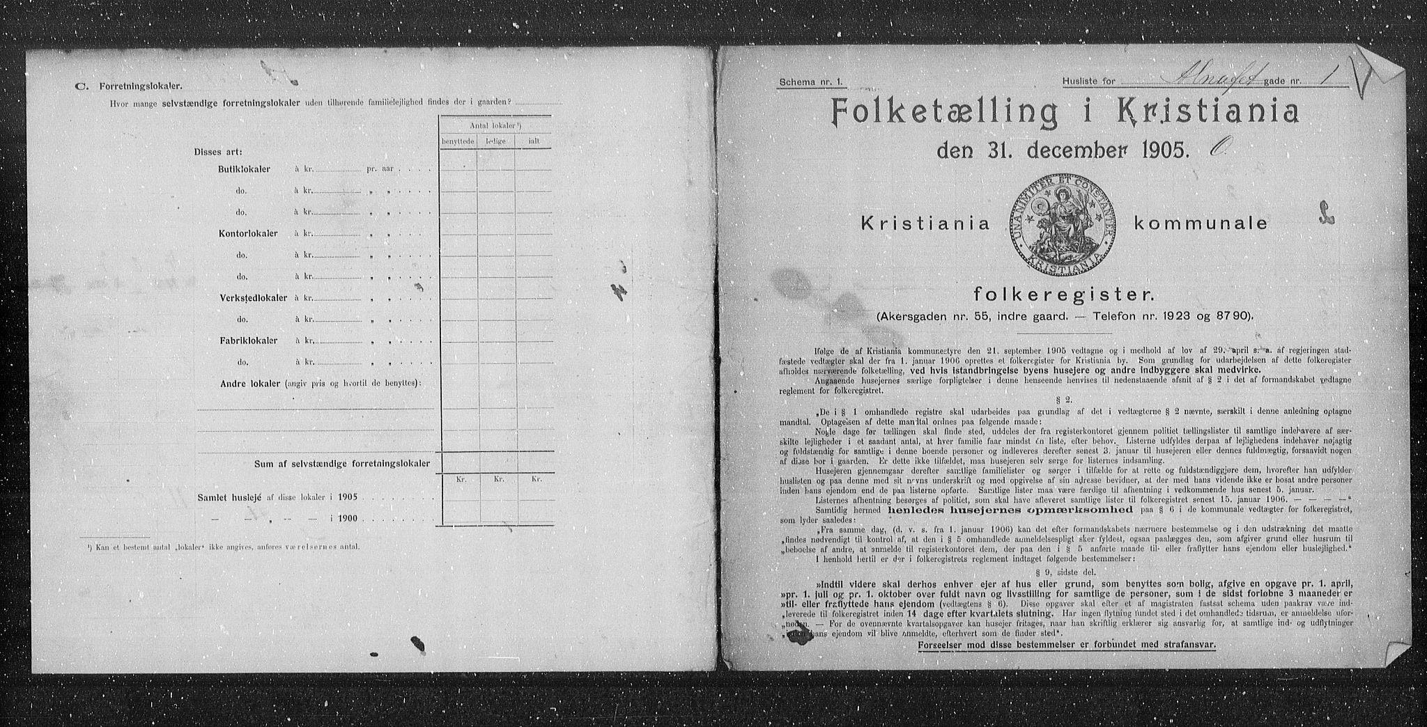 OBA, Municipal Census 1905 for Kristiania, 1905, p. 622