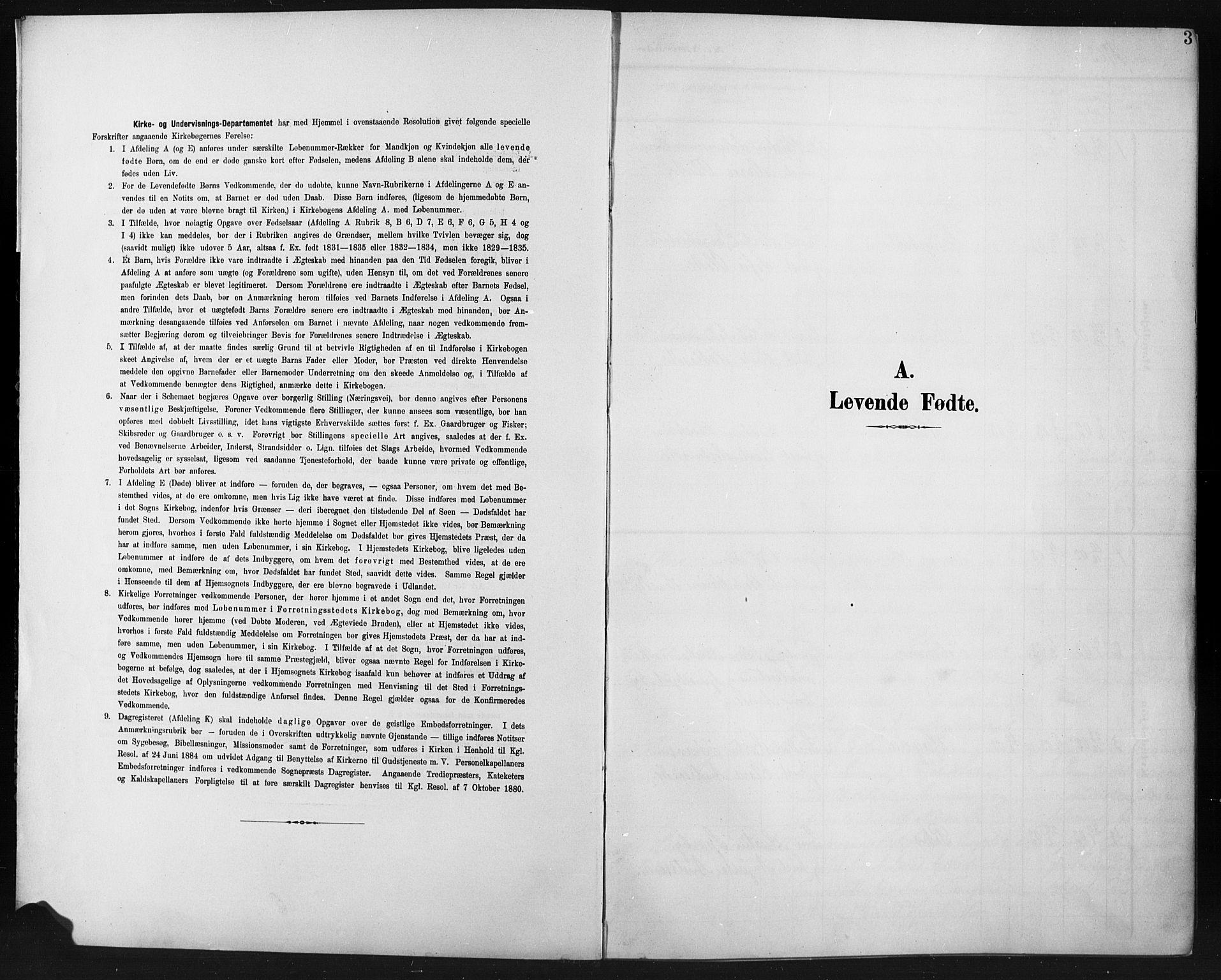 SAH, Fåberg prestekontor, H/Ha/Hab/L0012: Parish register (copy) no. 12, 1903-1924, p. 3