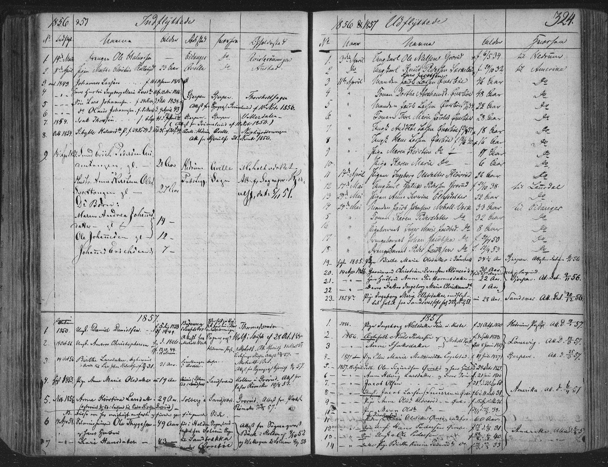 SAKO, Siljan kirkebøker, F/Fa/L0001: Parish register (official) no. 1, 1831-1870, p. 324