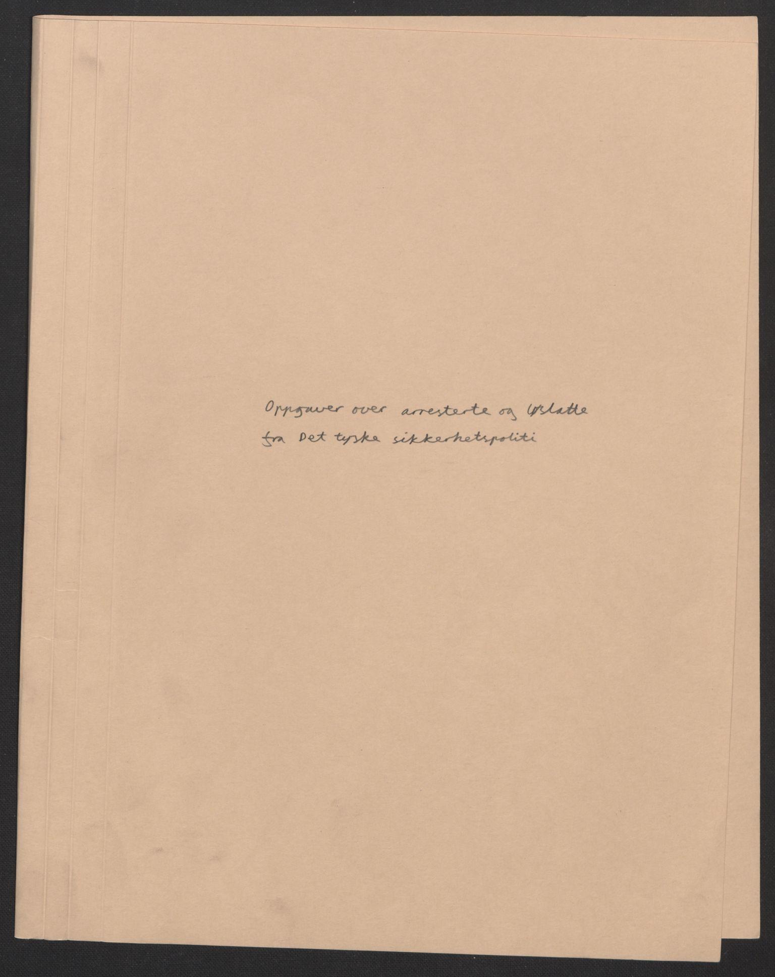 RA, Statspolitiet - Hovedkontoret / Osloavdelingen, F/L0072: --, 1942-1943