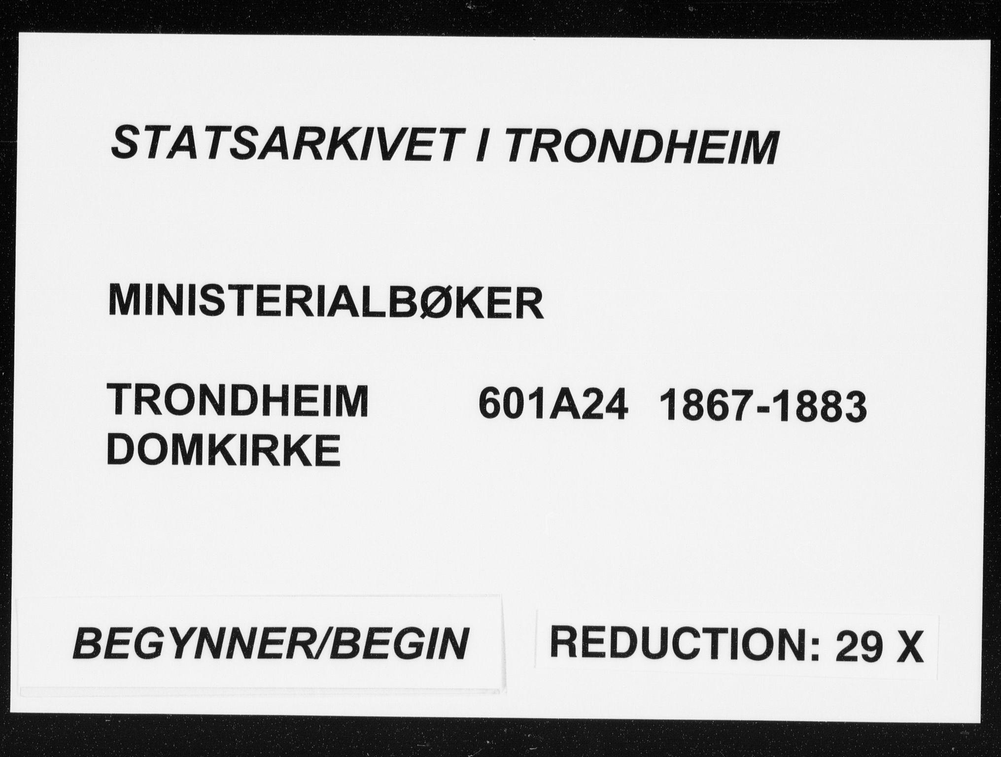 SAT, Ministerialprotokoller, klokkerbøker og fødselsregistre - Sør-Trøndelag, 601/L0056: Parish register (official) no. 601A24, 1867-1883