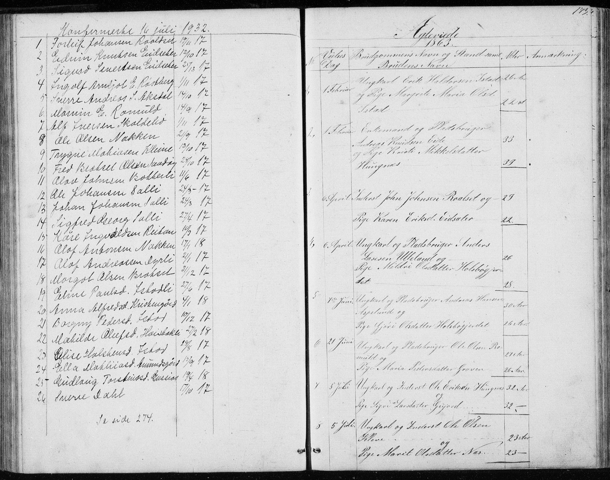 SAT, Ministerialprotokoller, klokkerbøker og fødselsregistre - Møre og Romsdal, 557/L0684: Parish register (copy) no. 557C02, 1863-1944, p. 173