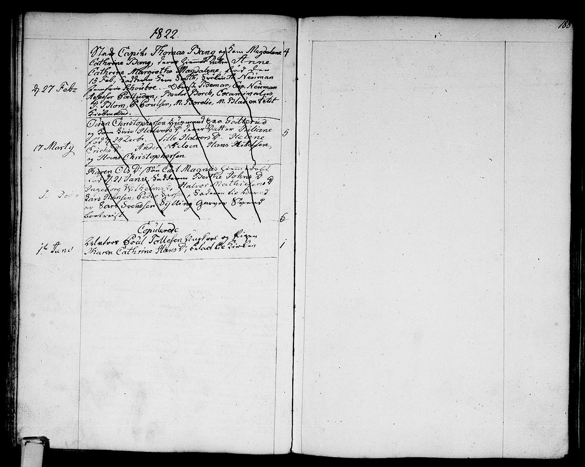 SAKO, Strømsø kirkebøker, F/Fa/L0010: Parish register (official) no. I 10, 1792-1822, p. 188