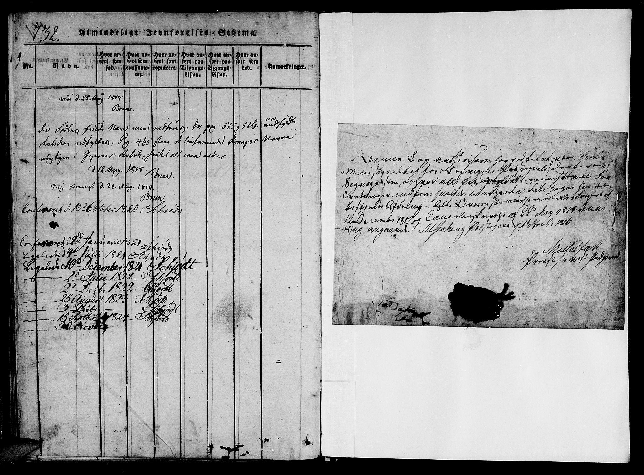 SAT, Ministerialprotokoller, klokkerbøker og fødselsregistre - Nord-Trøndelag, 701/L0005: Parish register (official) no. 701A05 /1, 1816-1825, p. 732-733