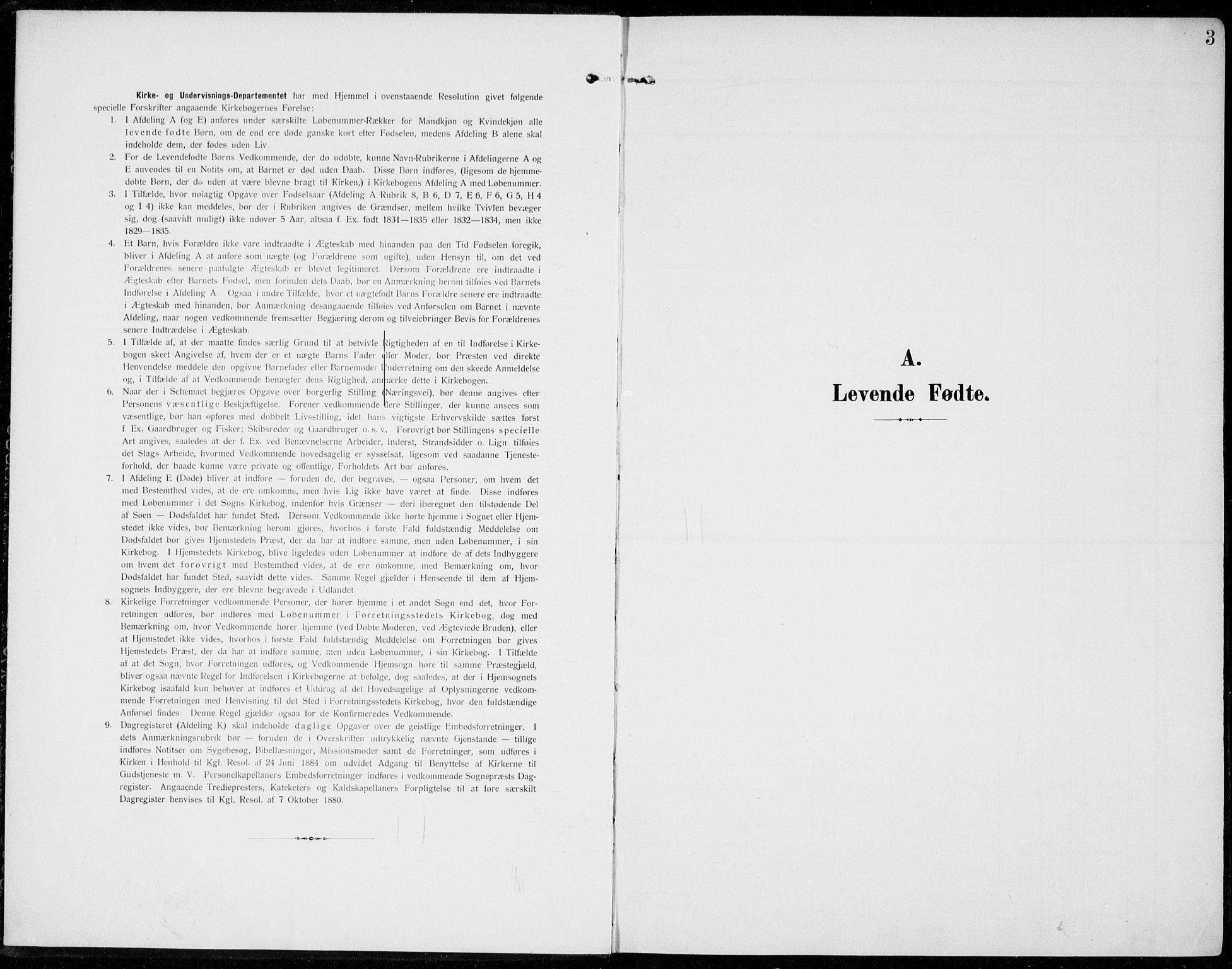 SAH, Sel prestekontor, Parish register (official) no. 1, 1905-1922, p. 3