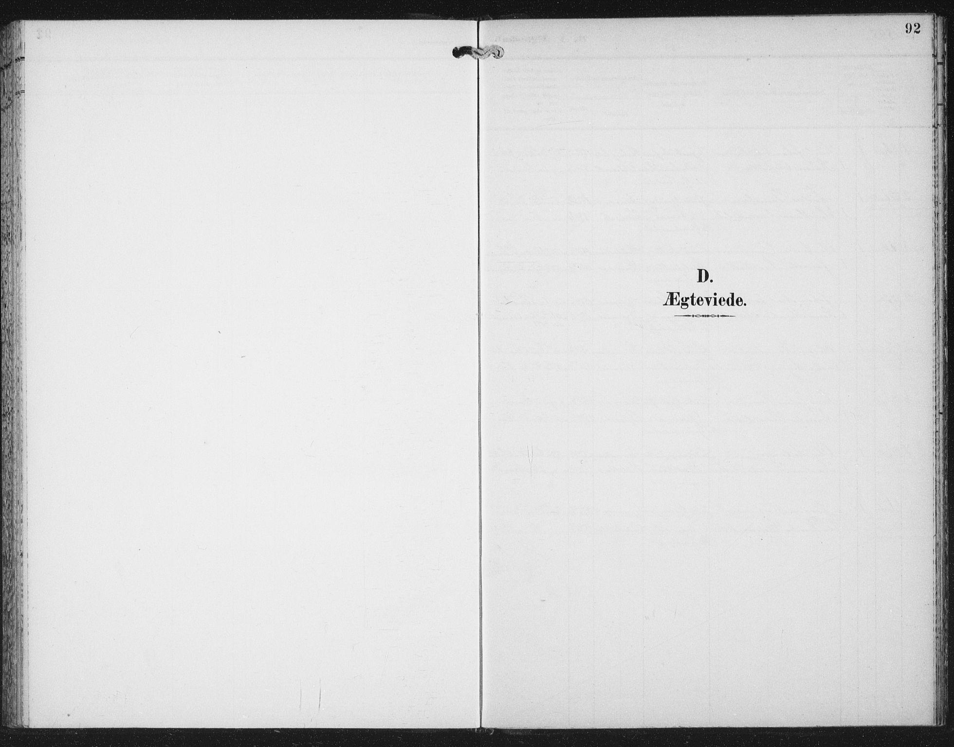 SAT, Ministerialprotokoller, klokkerbøker og fødselsregistre - Nord-Trøndelag, 702/L0024: Parish register (official) no. 702A02, 1898-1914, p. 92