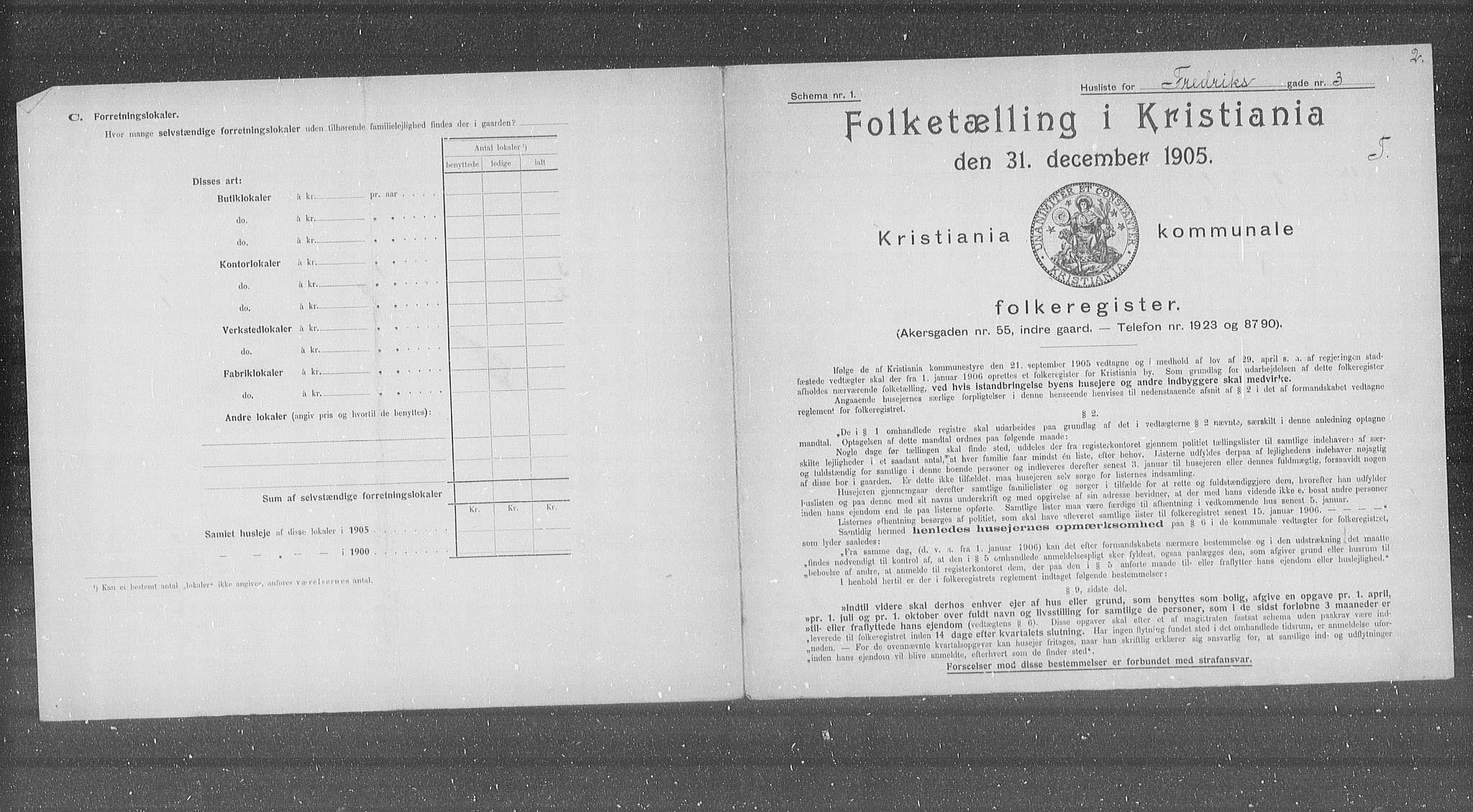 OBA, Municipal Census 1905 for Kristiania, 1905, p. 13790