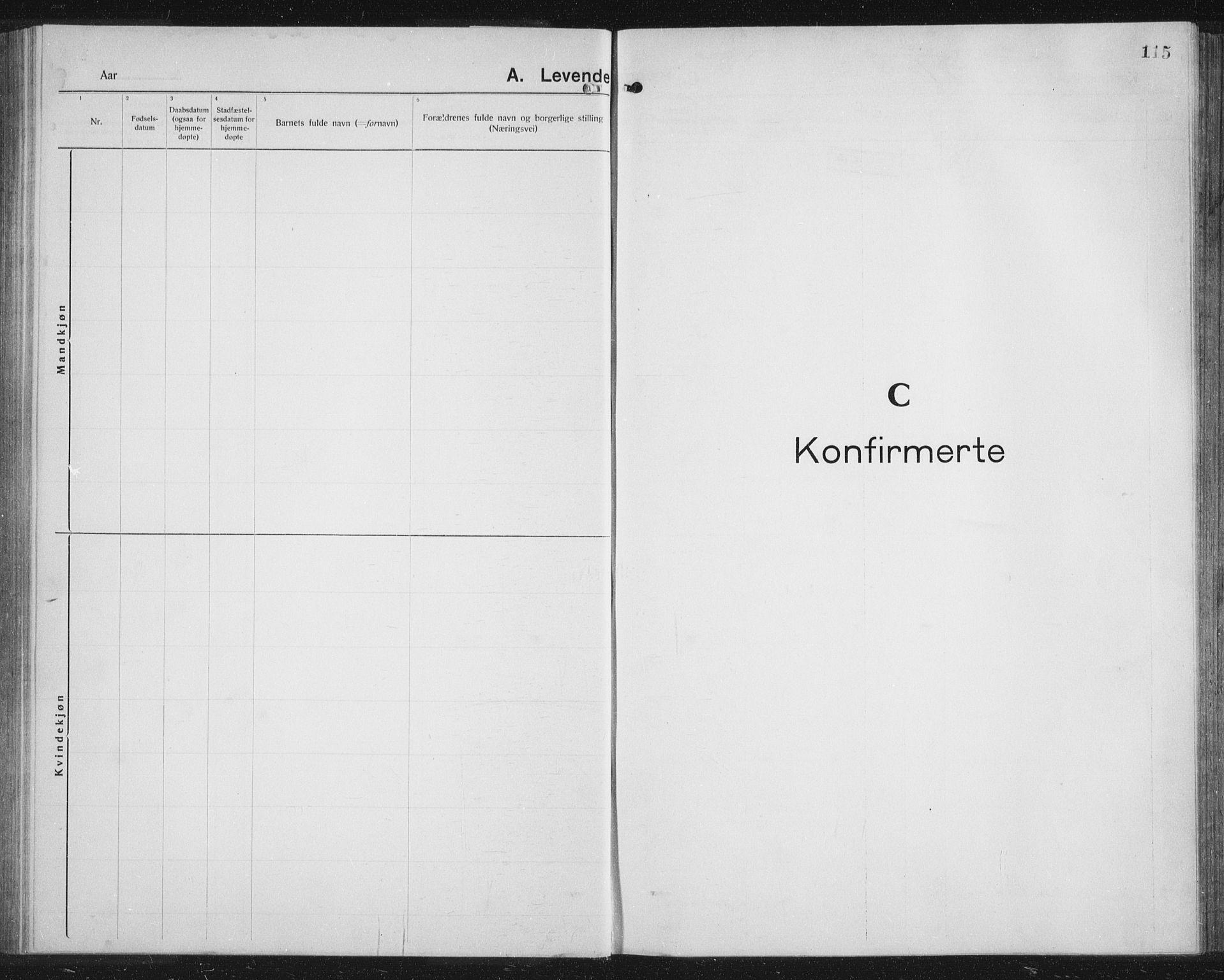 SATØ, Balsfjord sokneprestembete, G/Ga/L0010klokker: Parish register (copy) no. 10, 1921-1936, p. 115