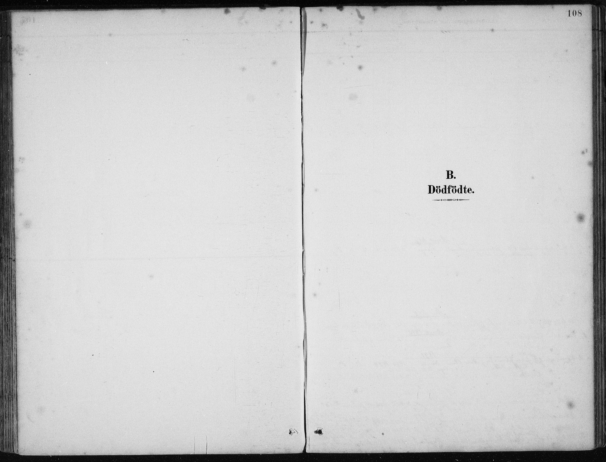 SAB, Os sokneprestembete*, Parish register (official) no. B 1, 1885-1902, p. 108