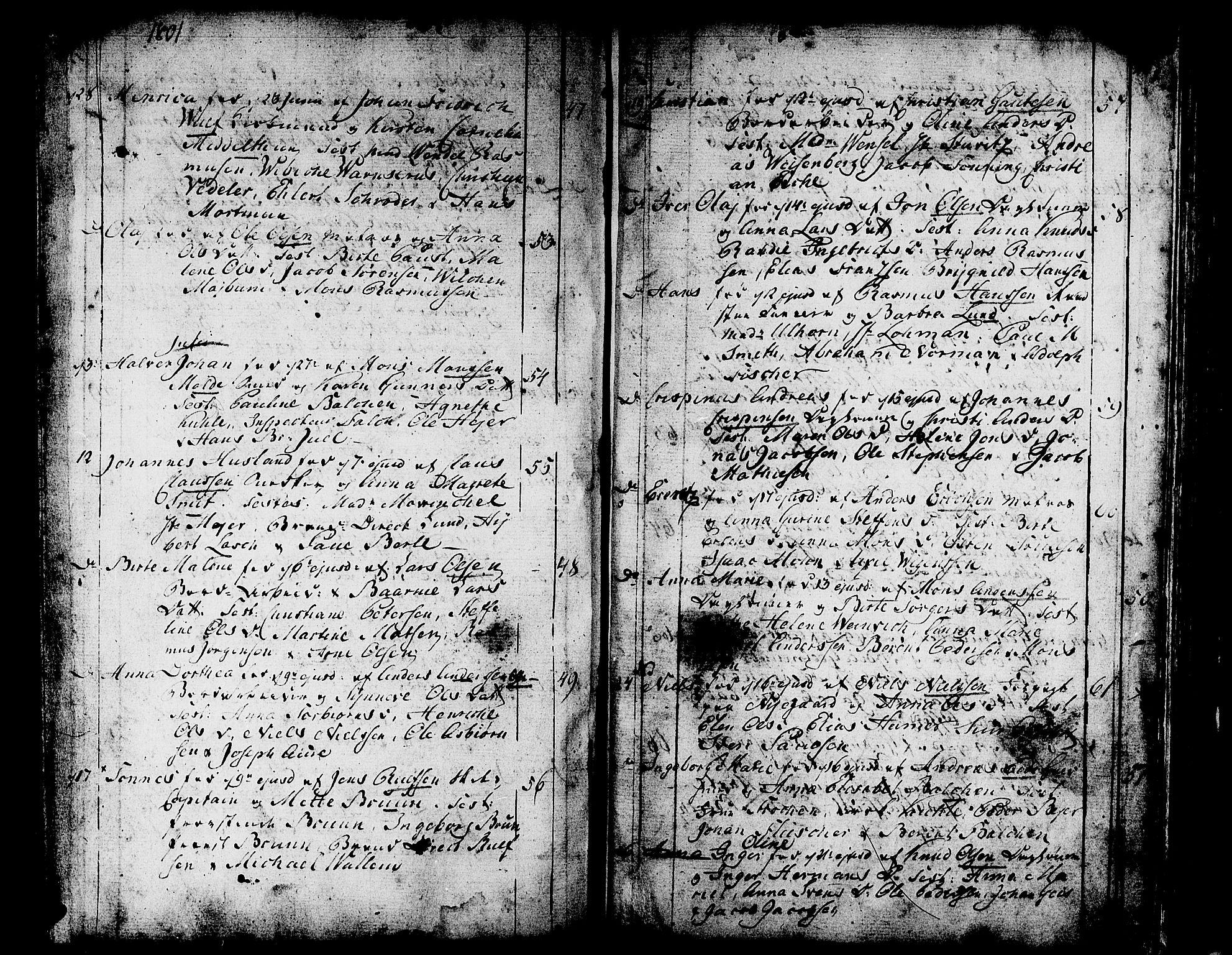 SAB, Domkirken sokneprestembete, H/Haa/L0004: Parish register (official) no. A 4, 1763-1820, p. 256-257