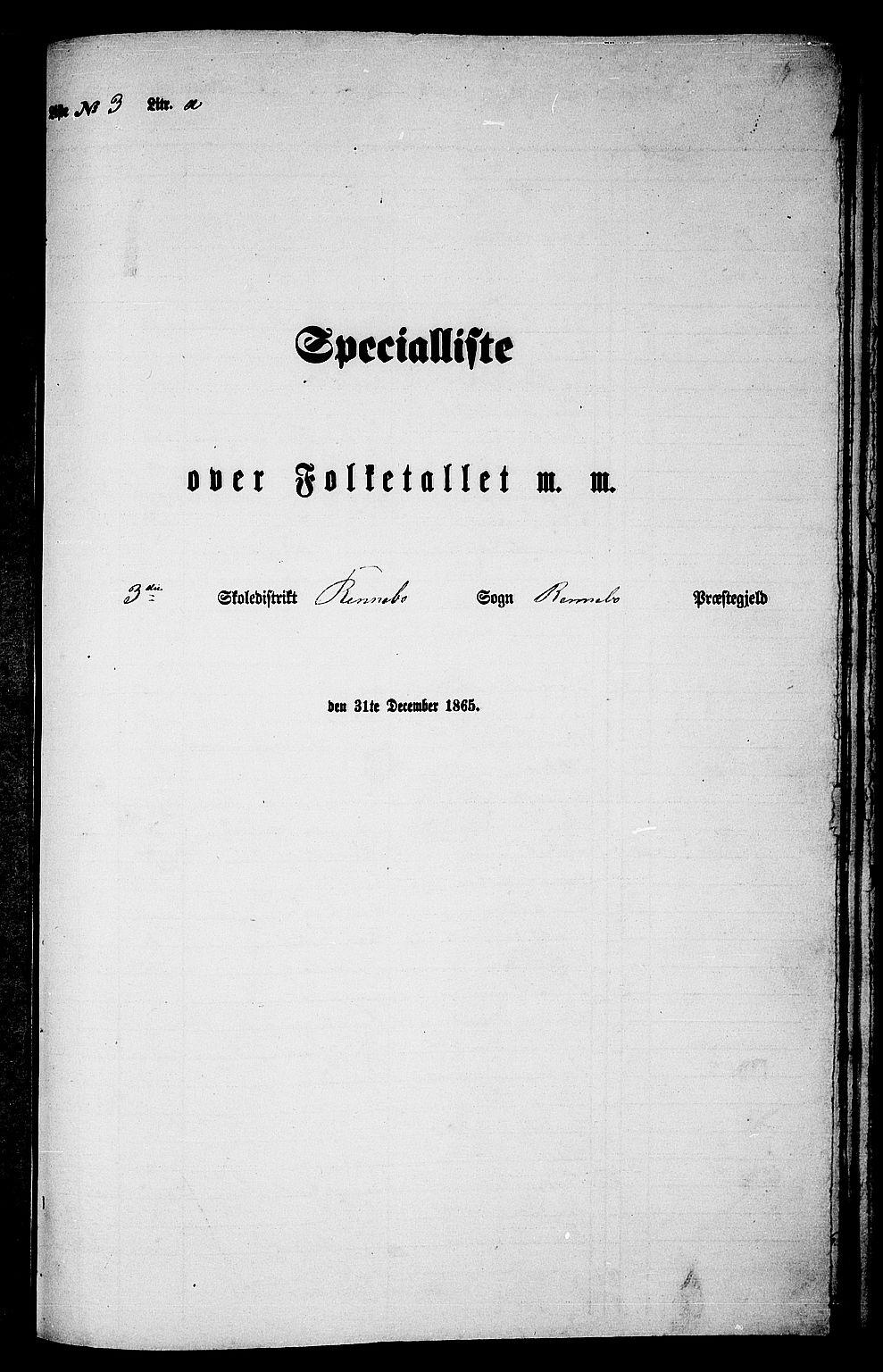 RA, 1865 census for Rennebu, 1865, p. 40