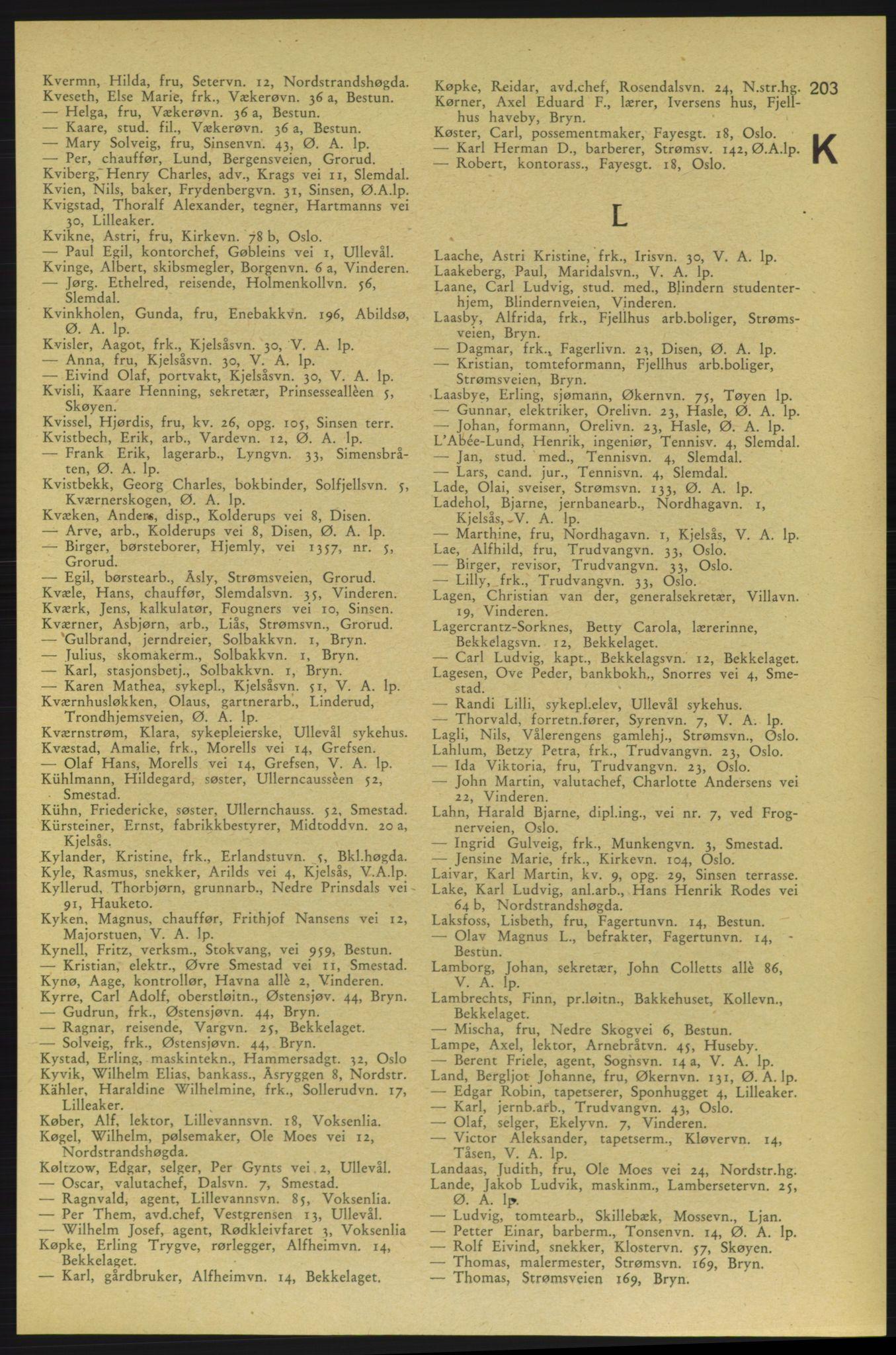 RA, Aker adressebok/adressekalender (publikasjon)*, 1937-1938, p. 203