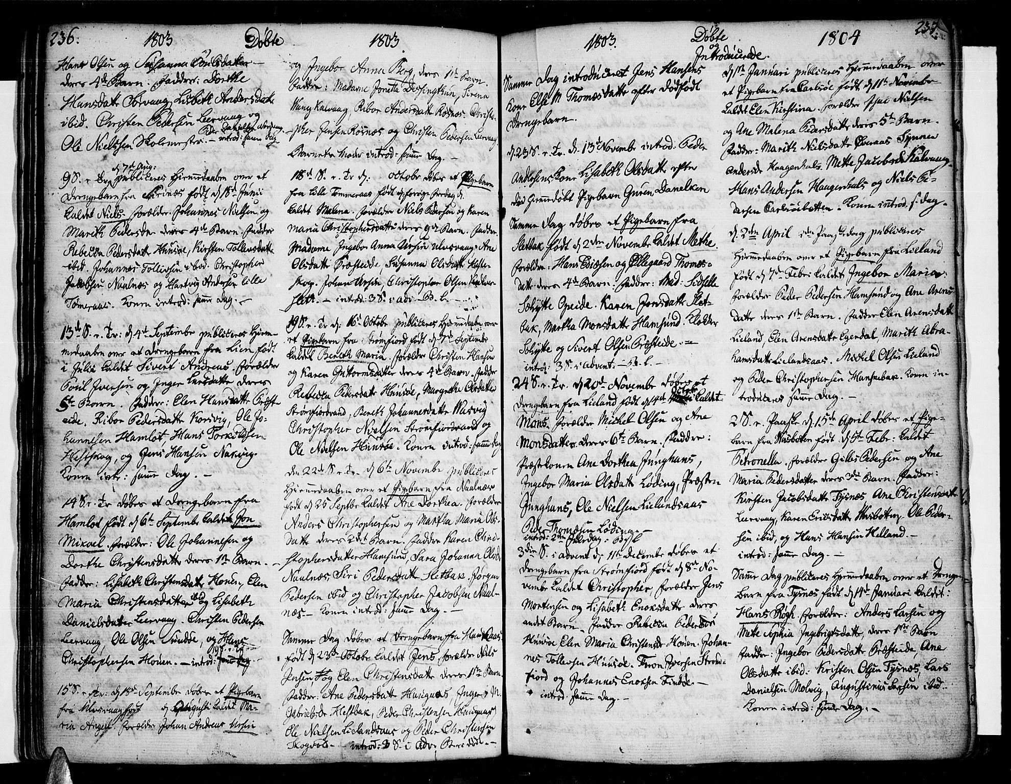SAT, Ministerialprotokoller, klokkerbøker og fødselsregistre - Nordland, 859/L0841: Parish register (official) no. 859A01, 1766-1821, p. 236-237