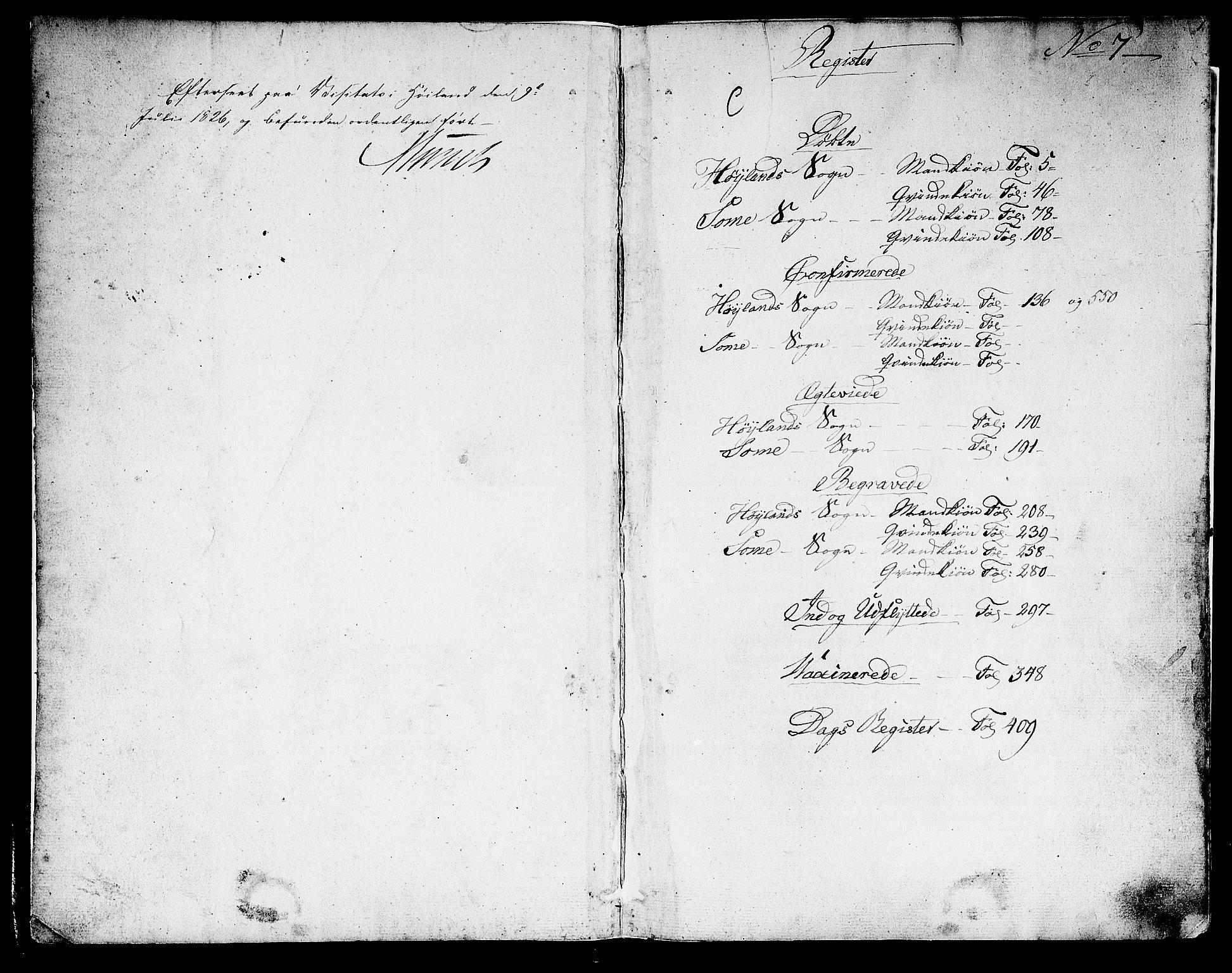 SAST, Høyland sokneprestkontor, 30BA/L0007: Parish register (official) no. A 7 /1, 1825-1841