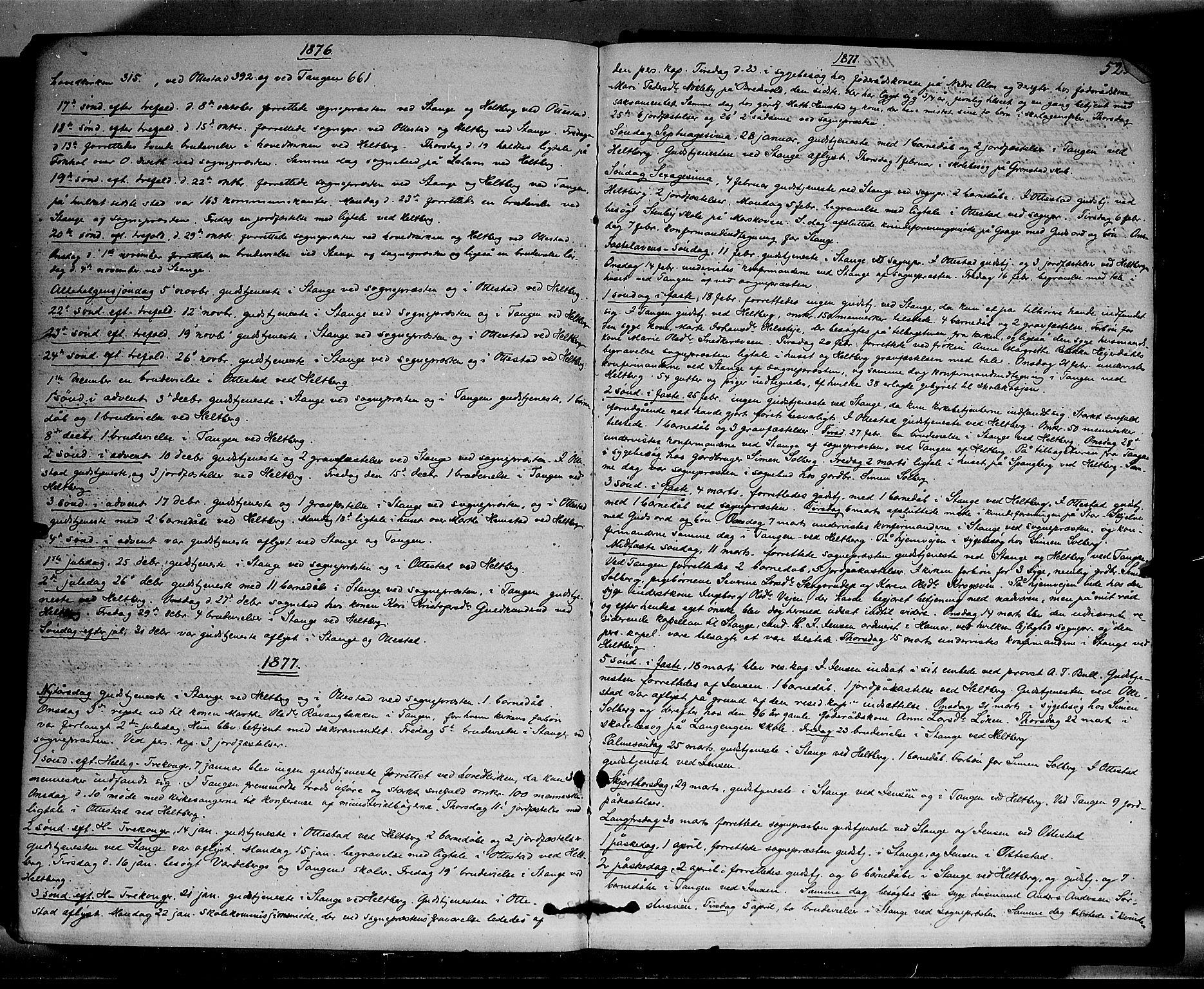 SAH, Stange prestekontor, K/L0013: Parish register (official) no. 13, 1862-1879, p. 525