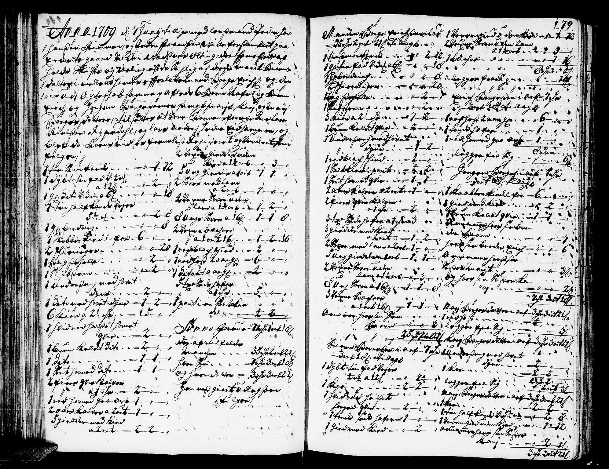 SAT, Romsdal sorenskriveri, 3/3A/L0005: Skifteprotokoll, 1707-1711, p. 178b-179a