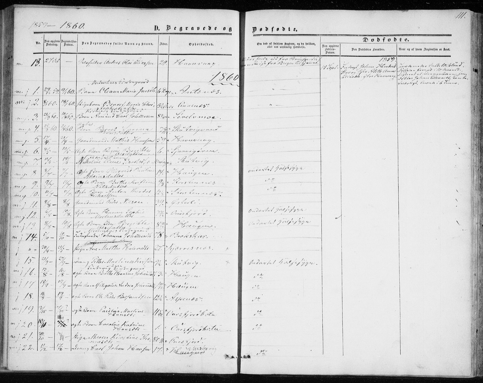 SATØ, Balsfjord sokneprestembete, Parish register (official) no. 1, 1858-1870, p. 111